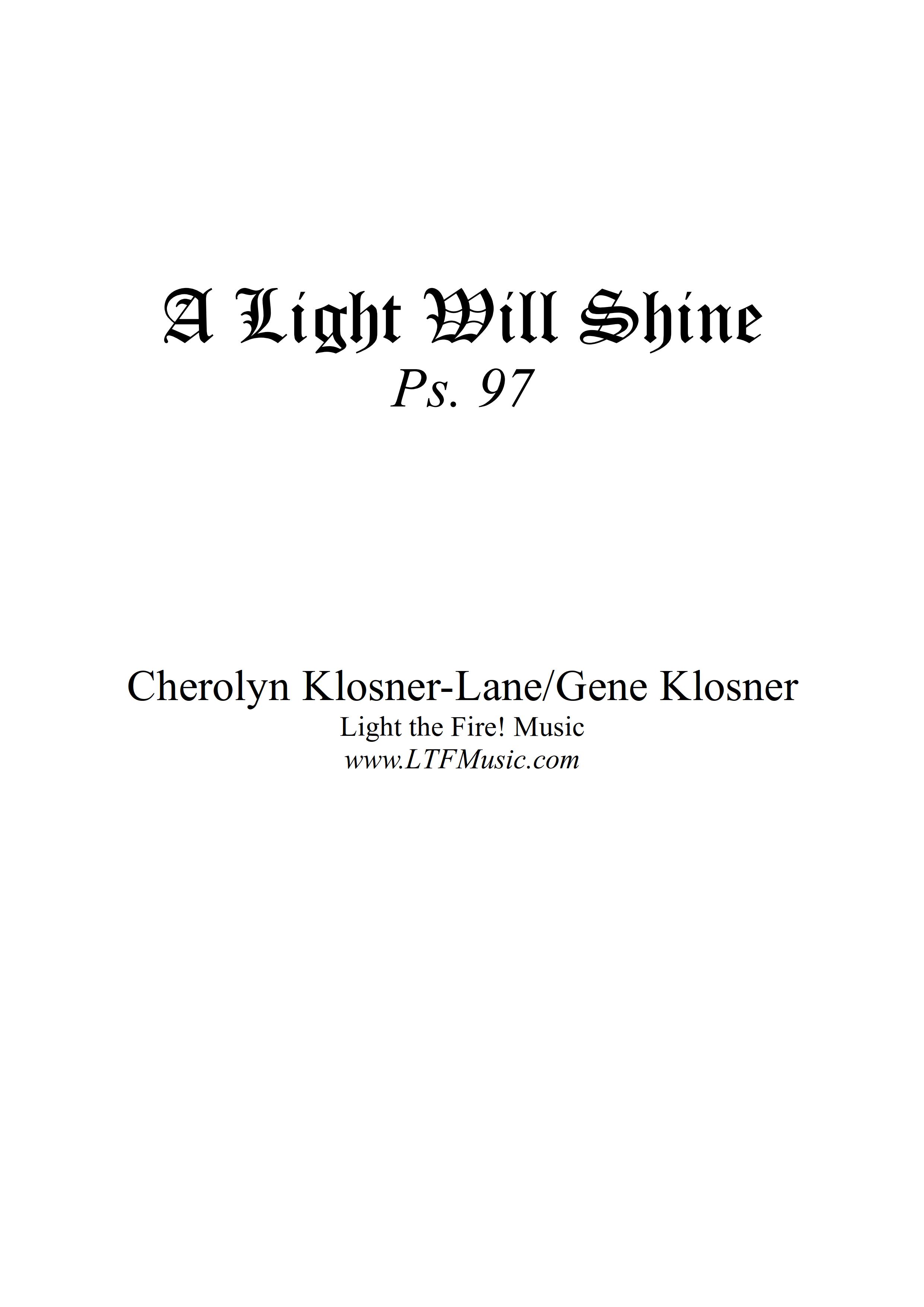 Psalm 97 A Light Will Shine Klosner CompletePDF 1 png