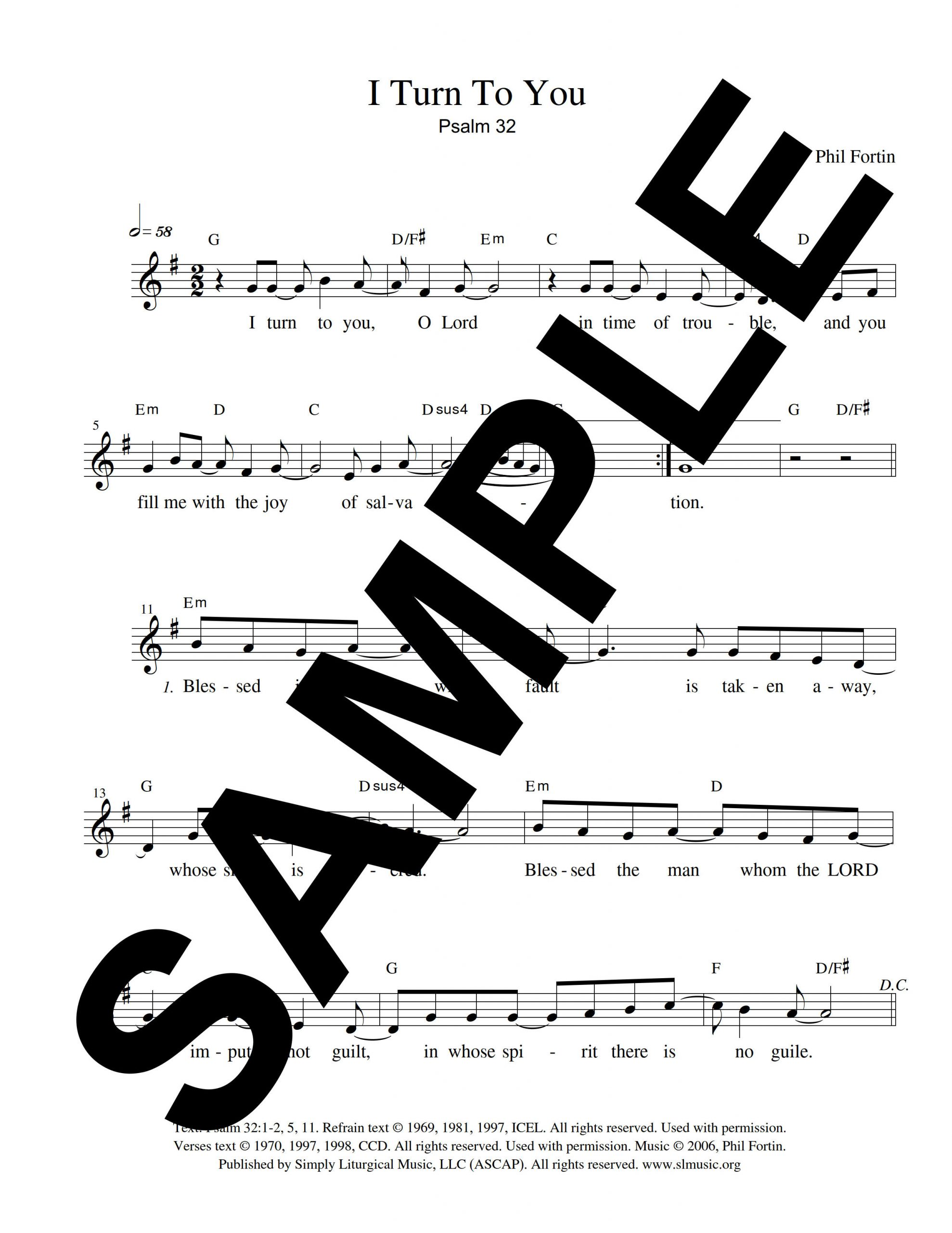 Psalm 32 Fortin Sample Lead Sheet scaled