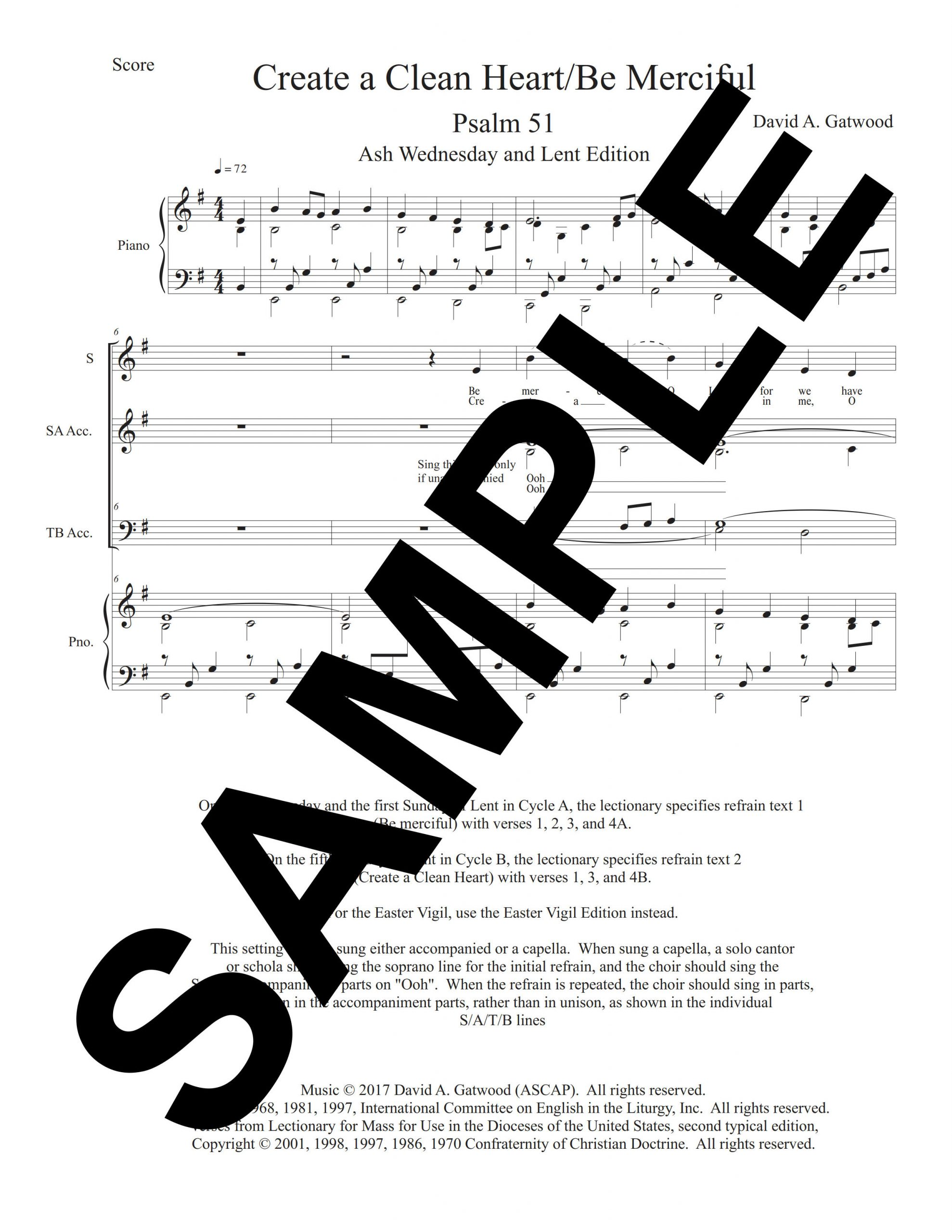 Create A Clean Heart Psalm 51 Sample Score scaled