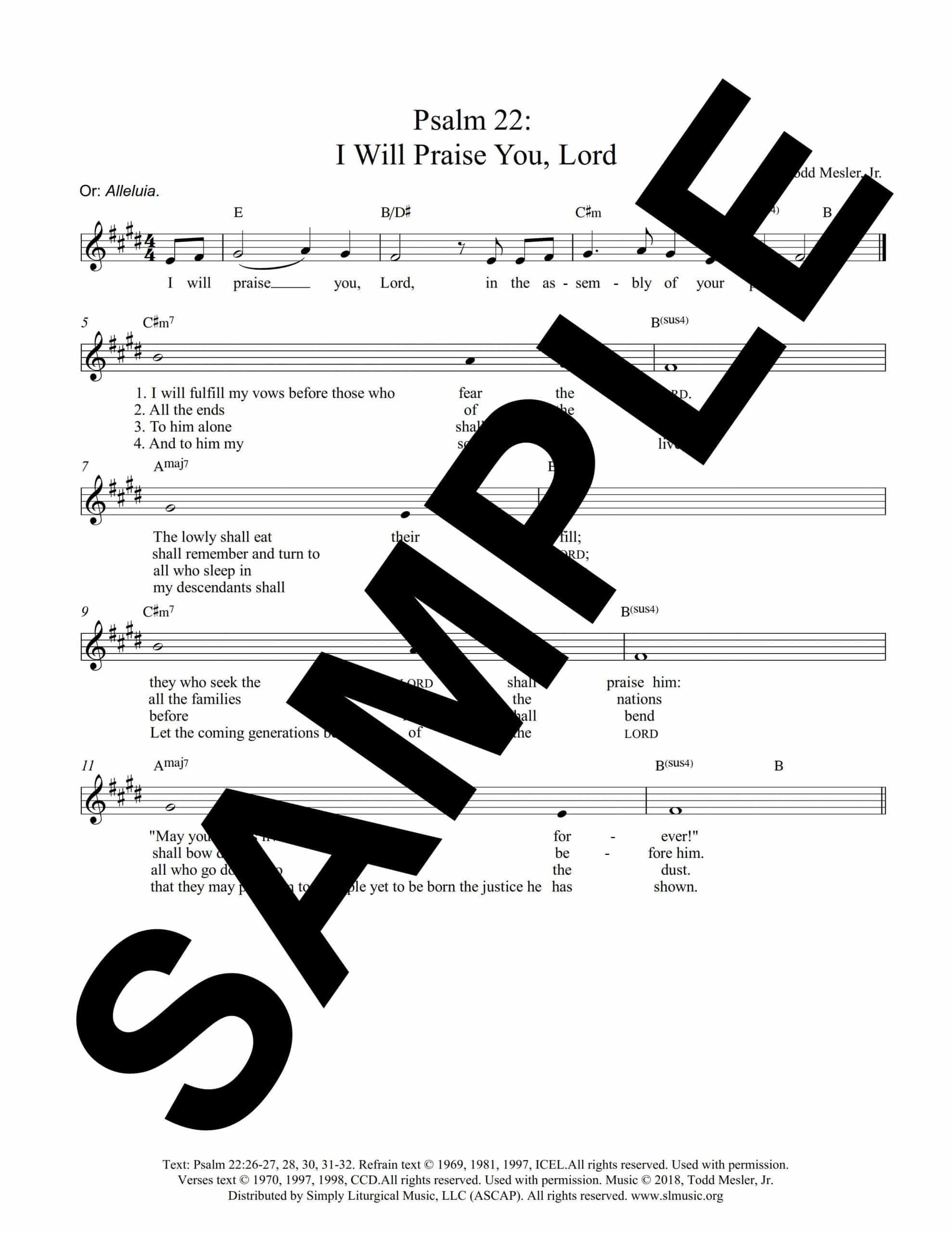 Psalm 22 5 Easter Mesler Sample Lead Sheet scaled