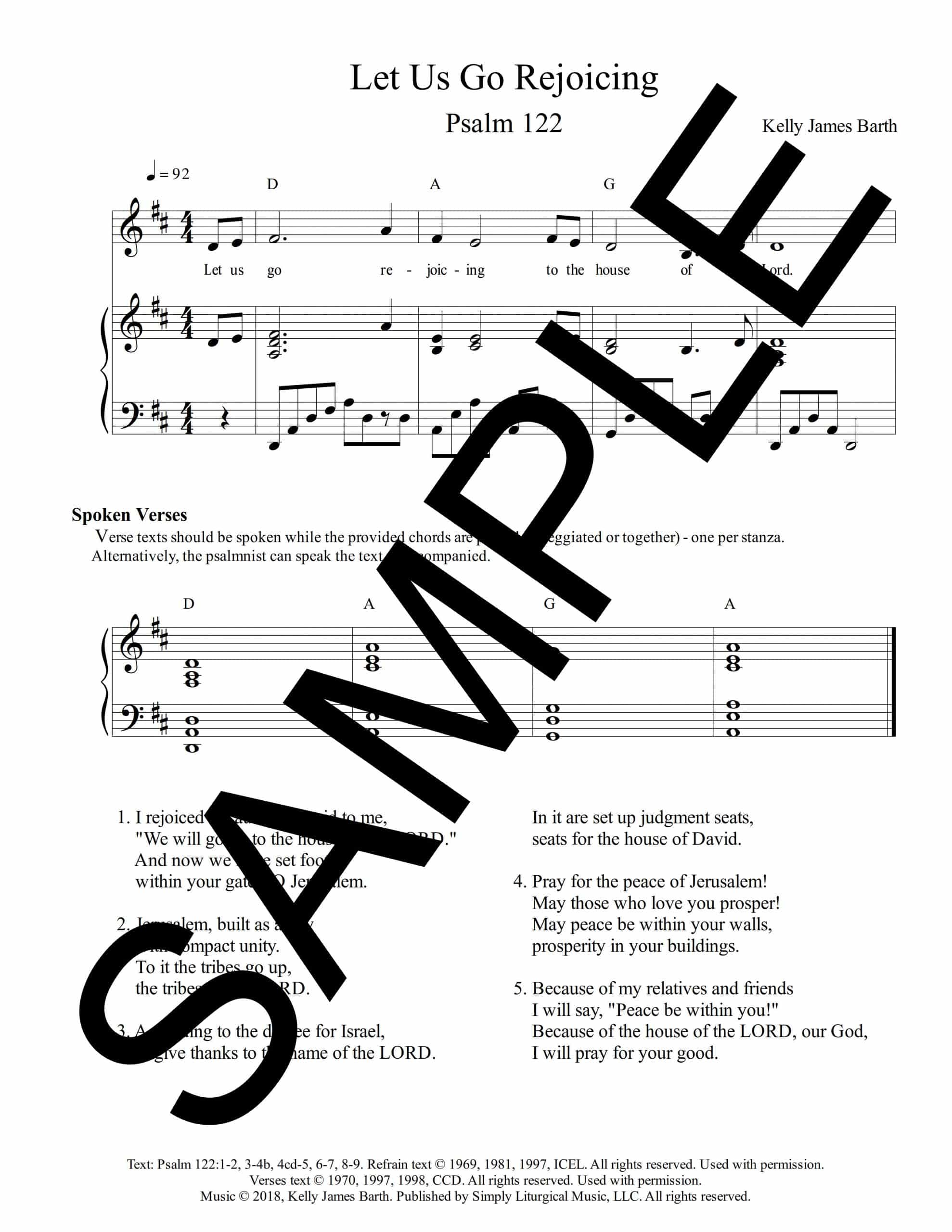Psalm 122 Let Us Go Rejoicing Barth Sample scaled