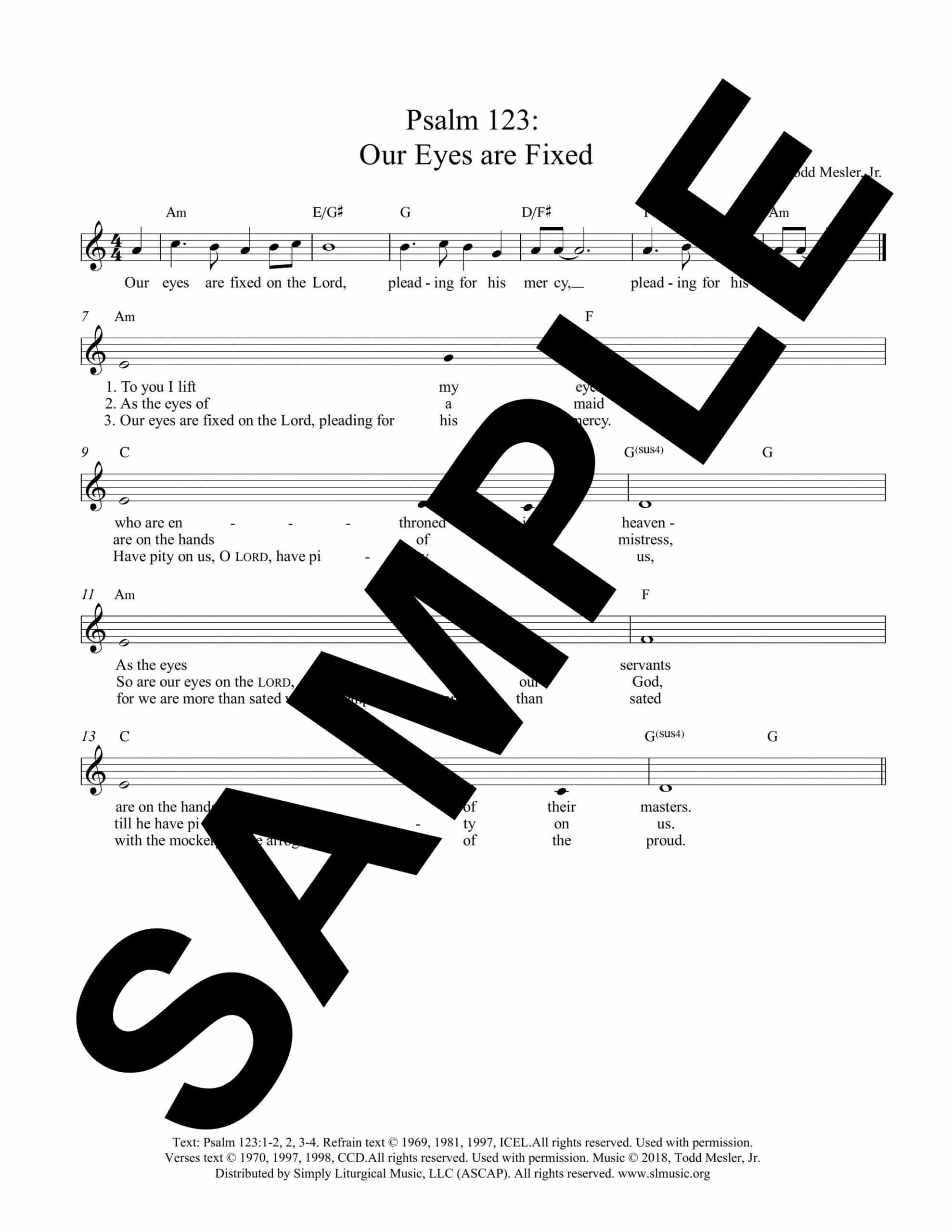 Psalm 123 Mesler Sample Lead Sheet scaled