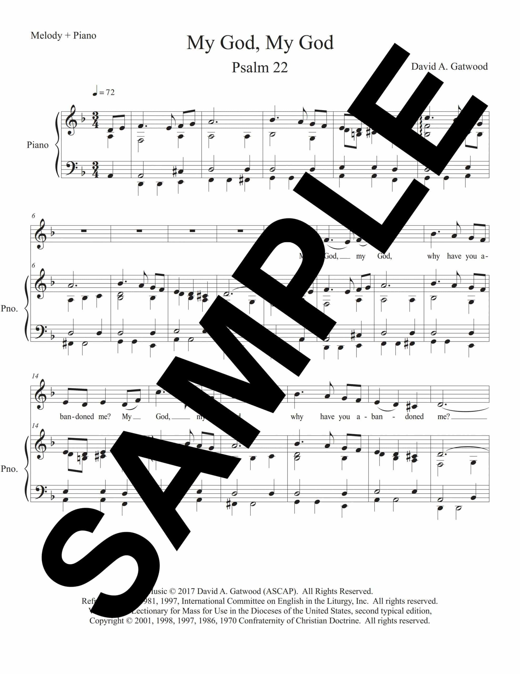 Psalm 22 Palm Gatwood Sample Melody Piano scaled