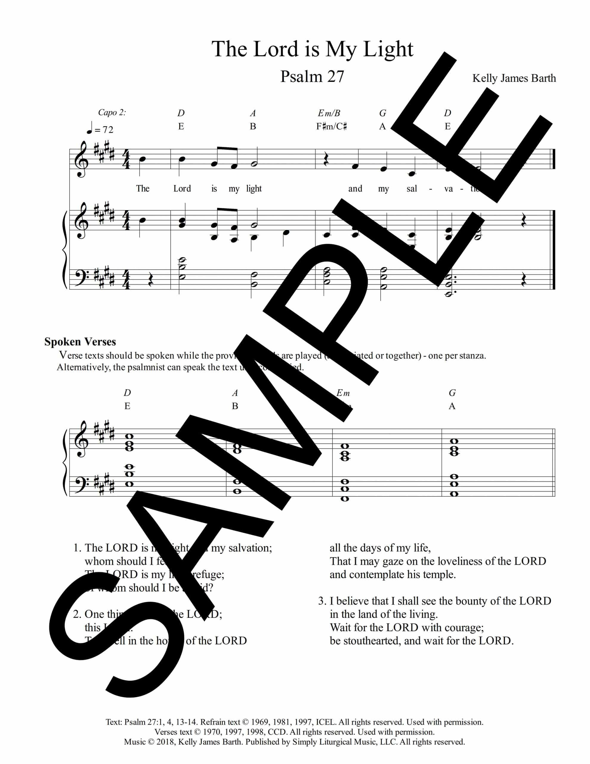Psalm 27 The Lord is My Light Barth Sample Octavo scaled