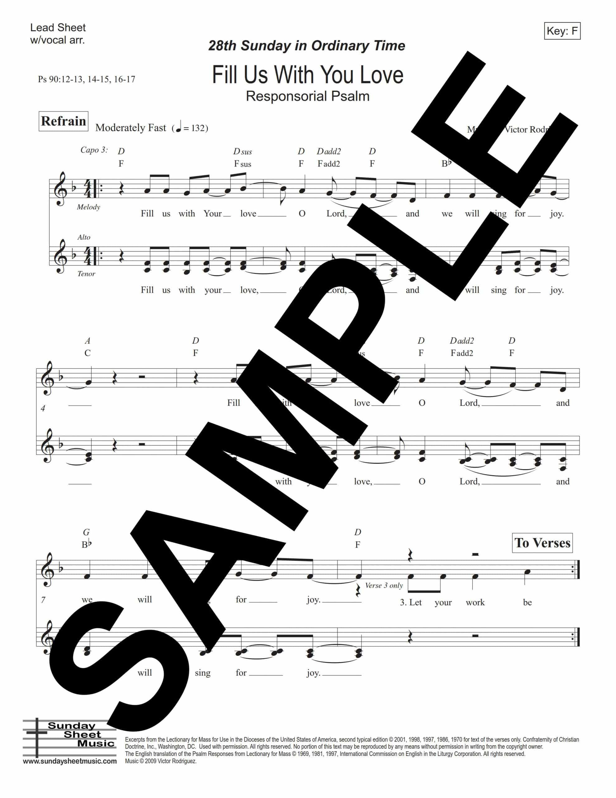 28th Sunday Fill Us With Your Love Ps 90 va Sample Lead Sheet scaled