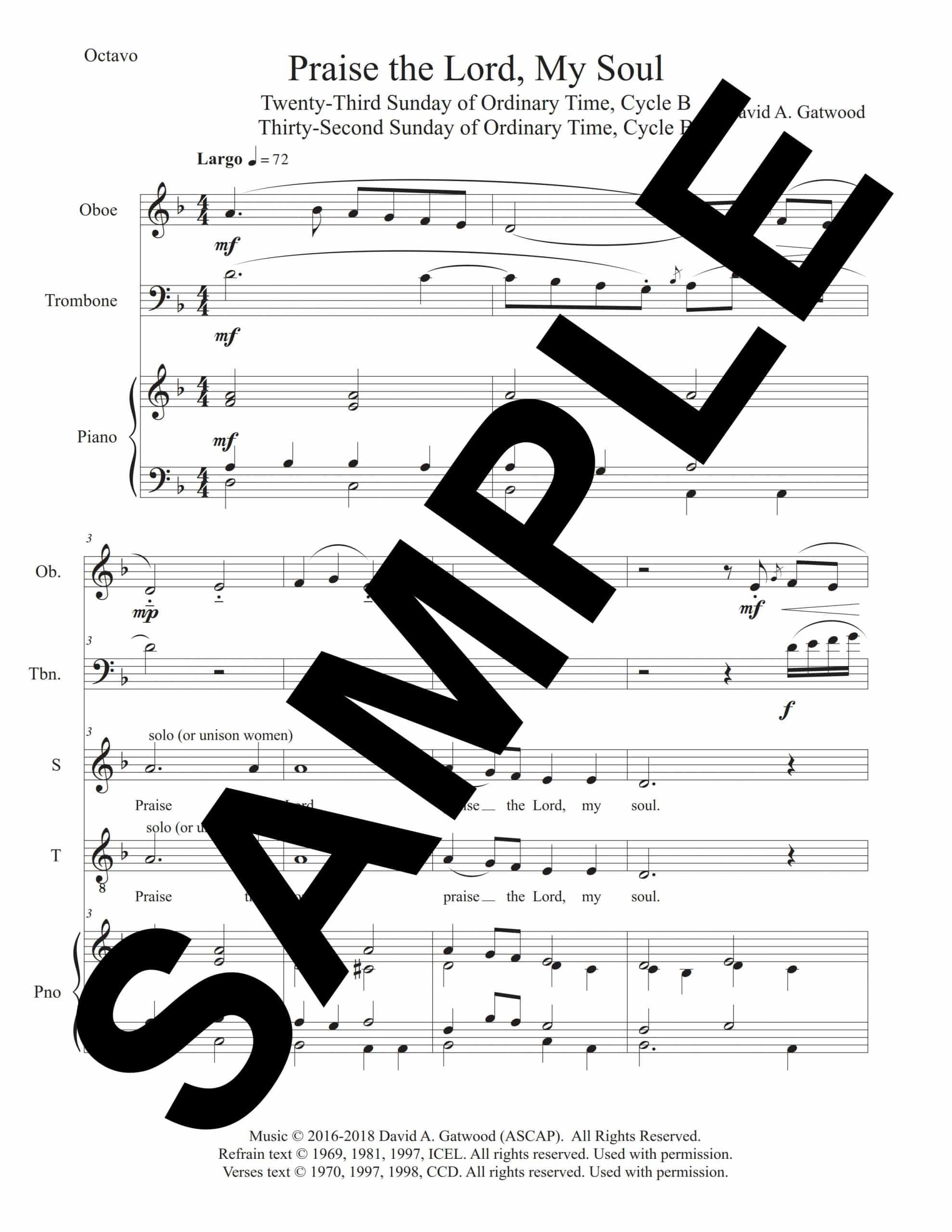 Praise the Lord My Soul Psalm 146 Sample Octavo 1 scaled