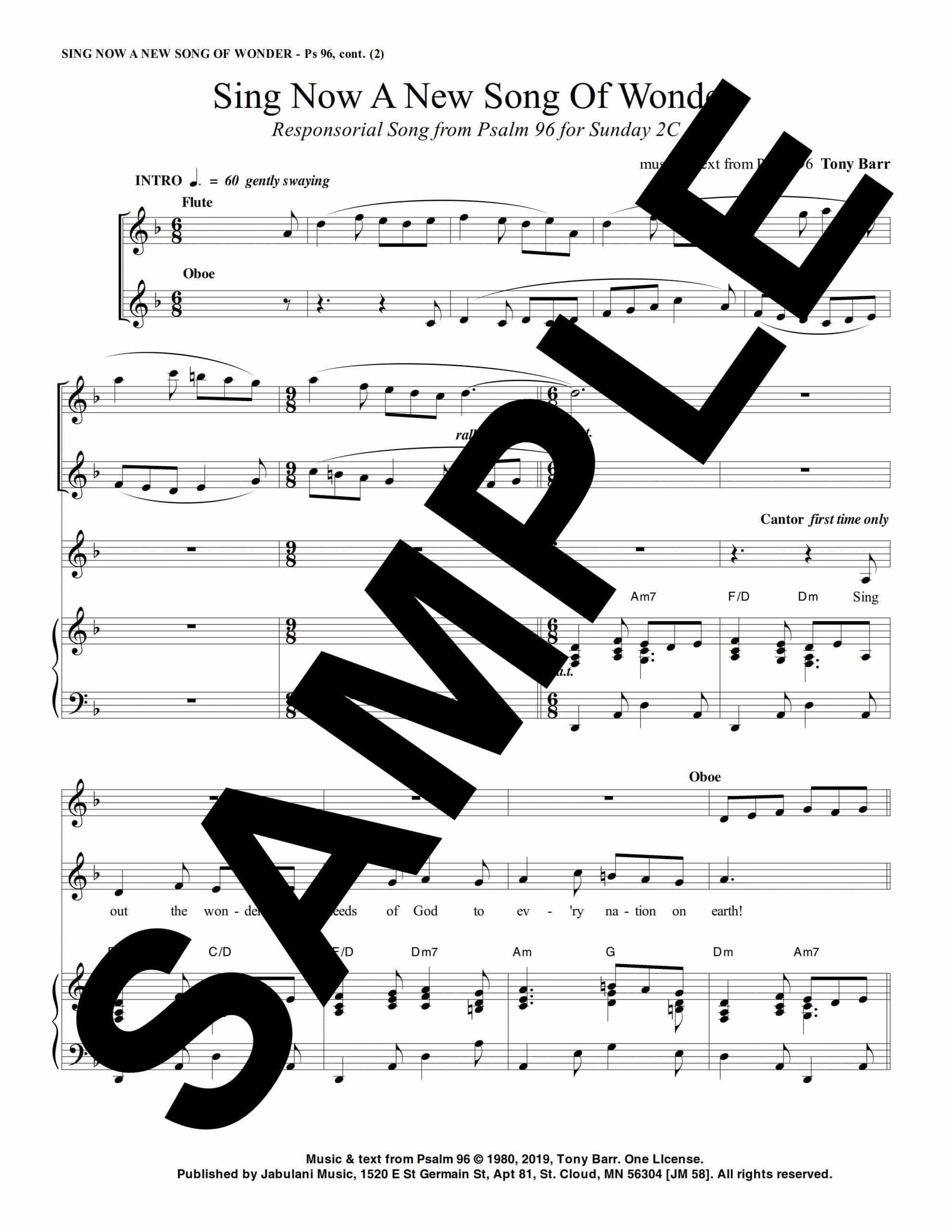 02C Ps 96 Sing Now A New Song Of Wonder jm 58Sample 1 scaled