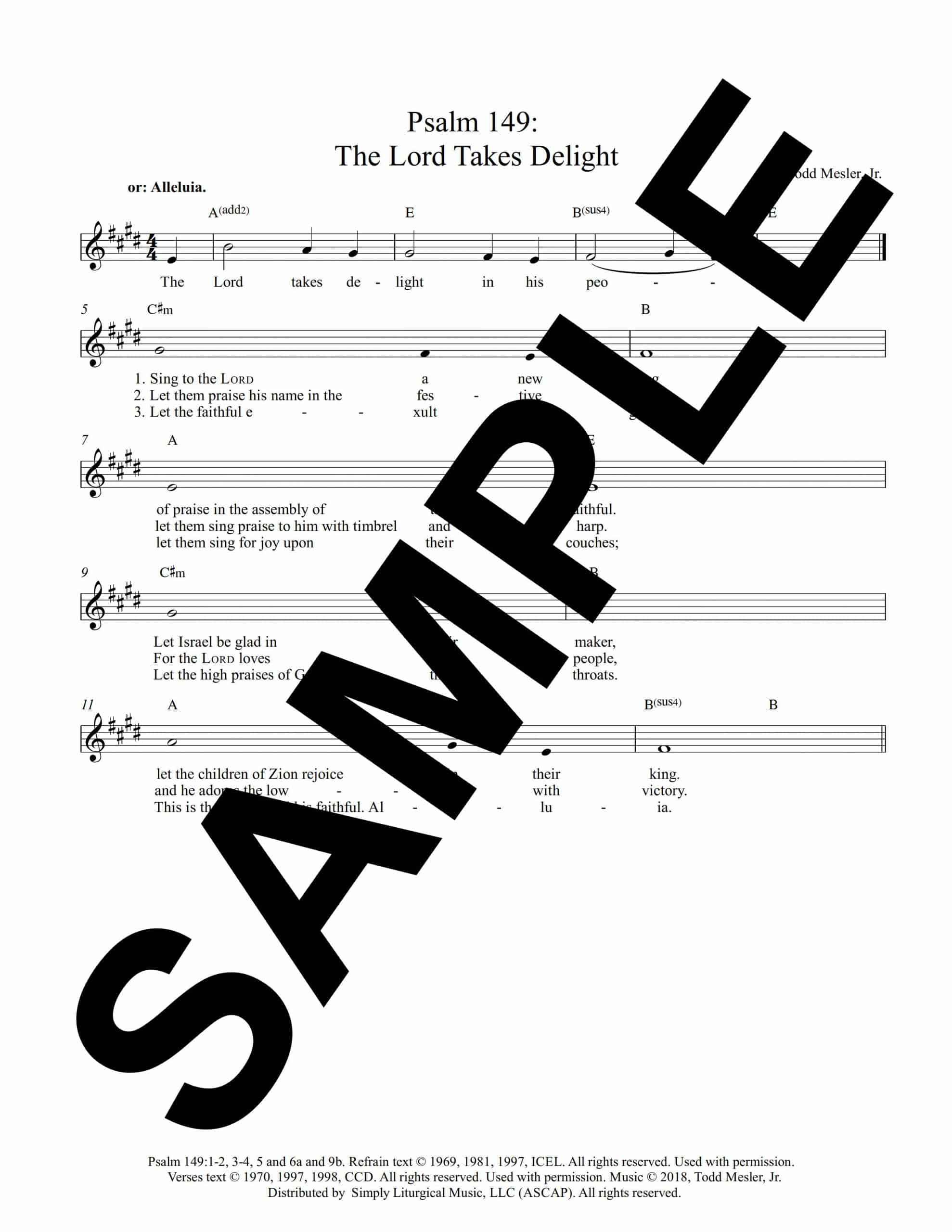 January 7th Psalm 149 The Lord Takes Delight Sample scaled