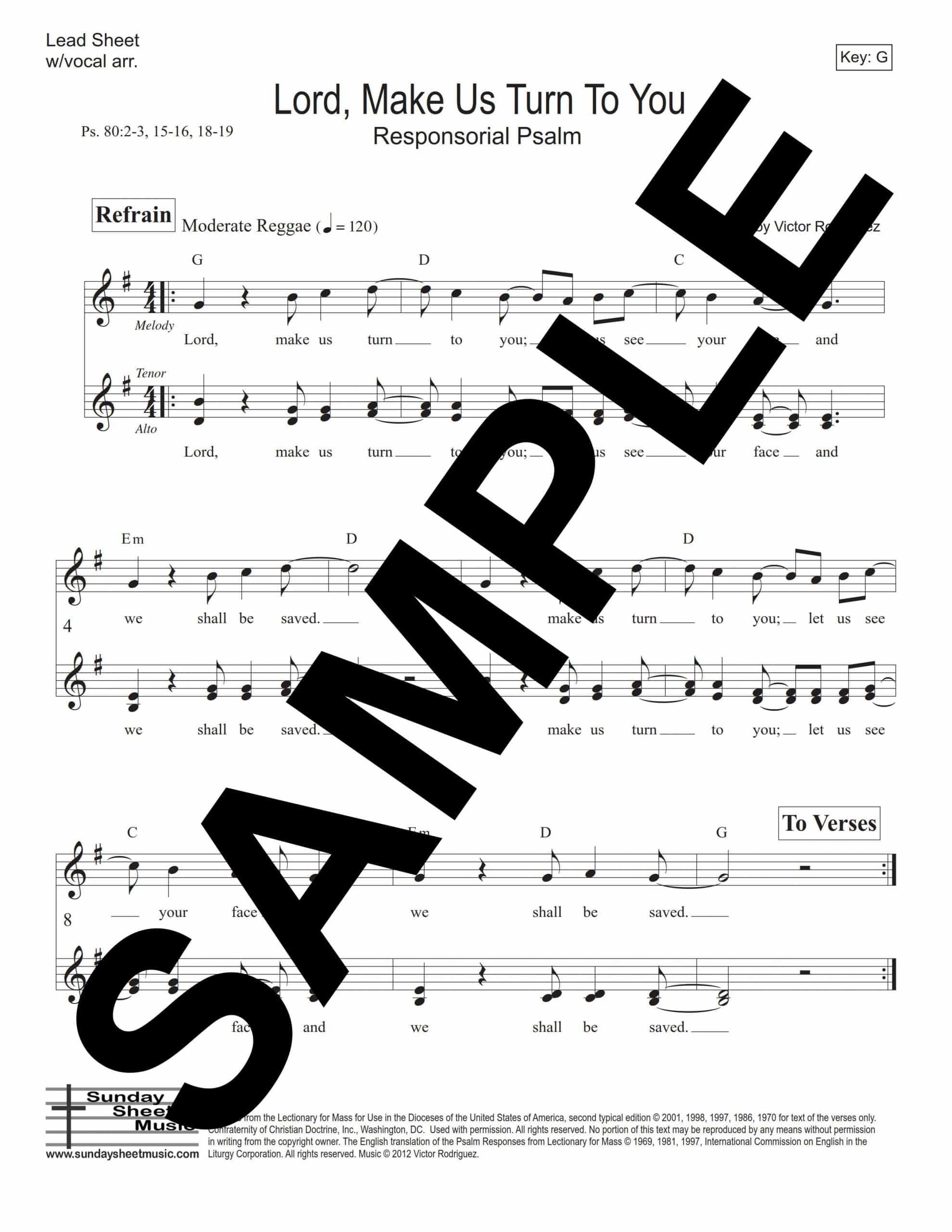 Psalm 80 Lord Make Us Turn Rodriguez LeadSheet Sample scaled