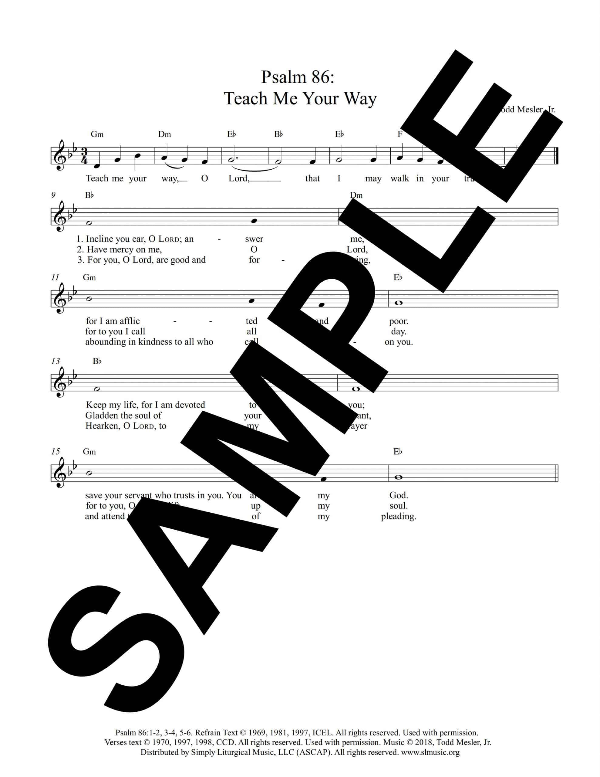 Saturday After Ash Wednesday Psalm 86 Teach Me Your Way Sample scaled