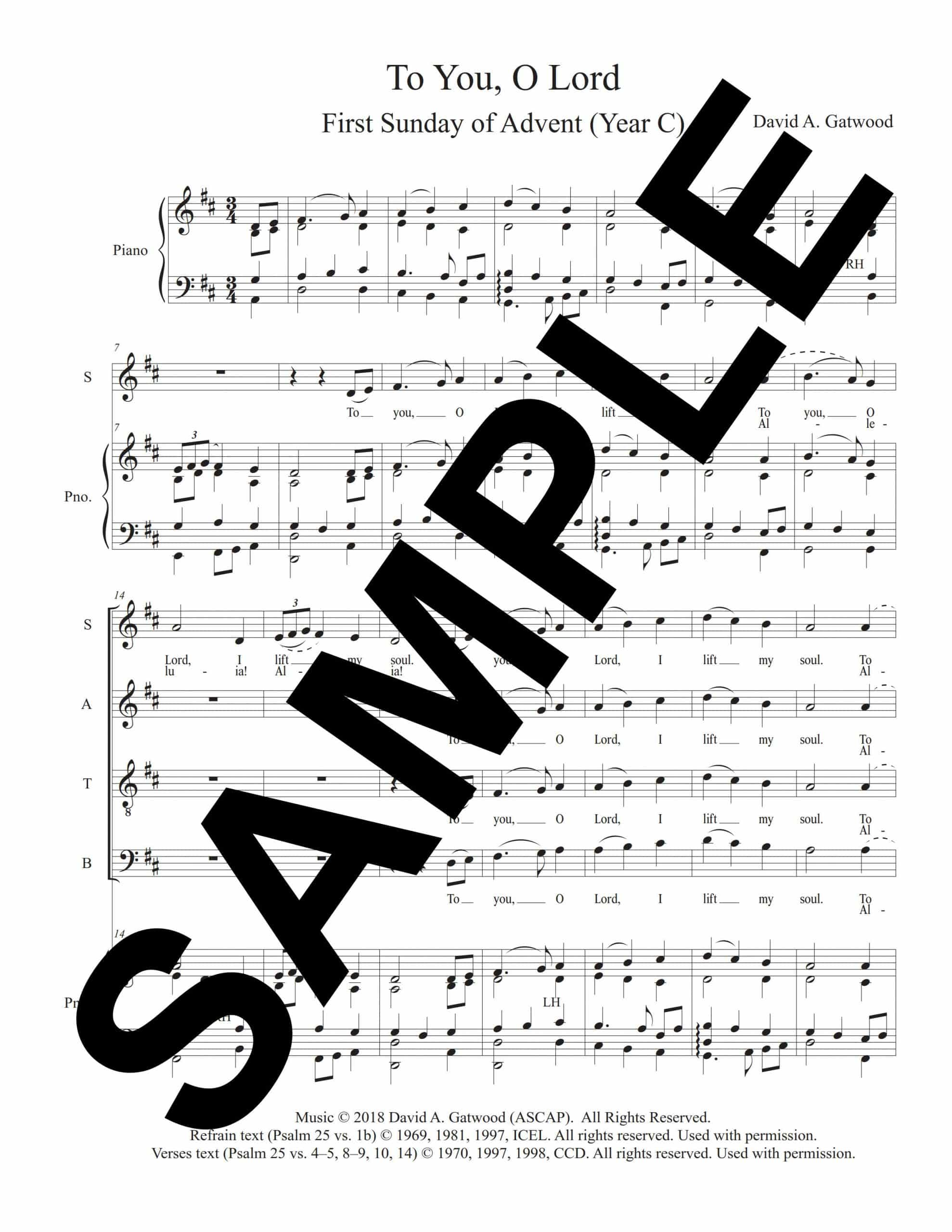 To You O Lord Psalm 25 Sample Octavo scaled