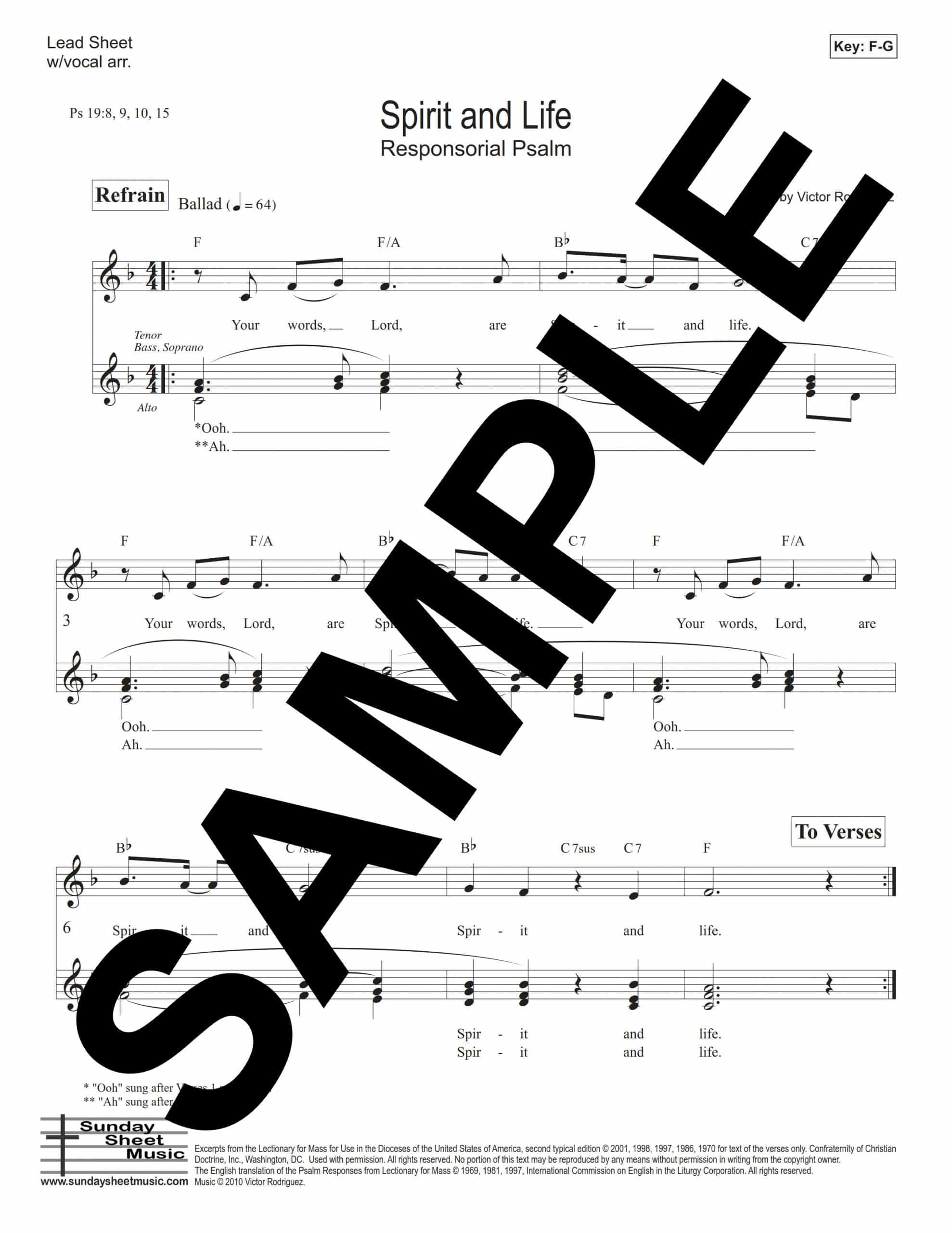 Psalm 19 Spirit And Life Rodriguez Sample Lead Sheet scaled
