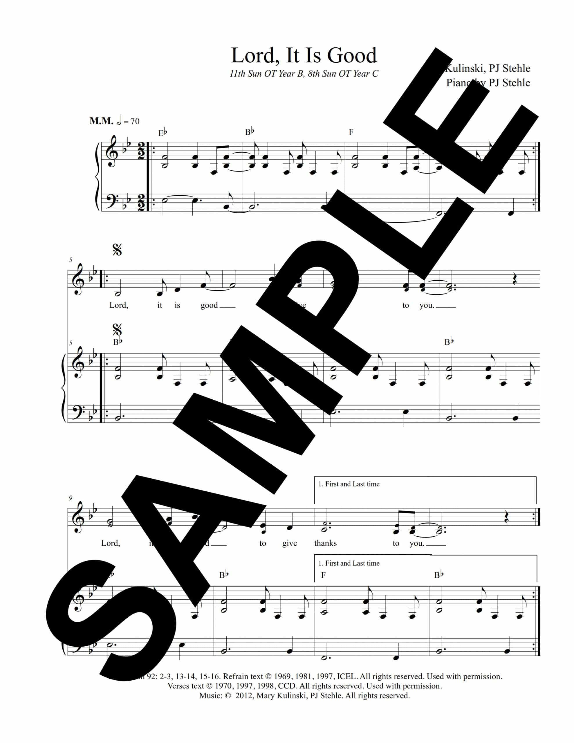 Psalm 92 Lord It Is Good Kulinski Sample Octavo scaled