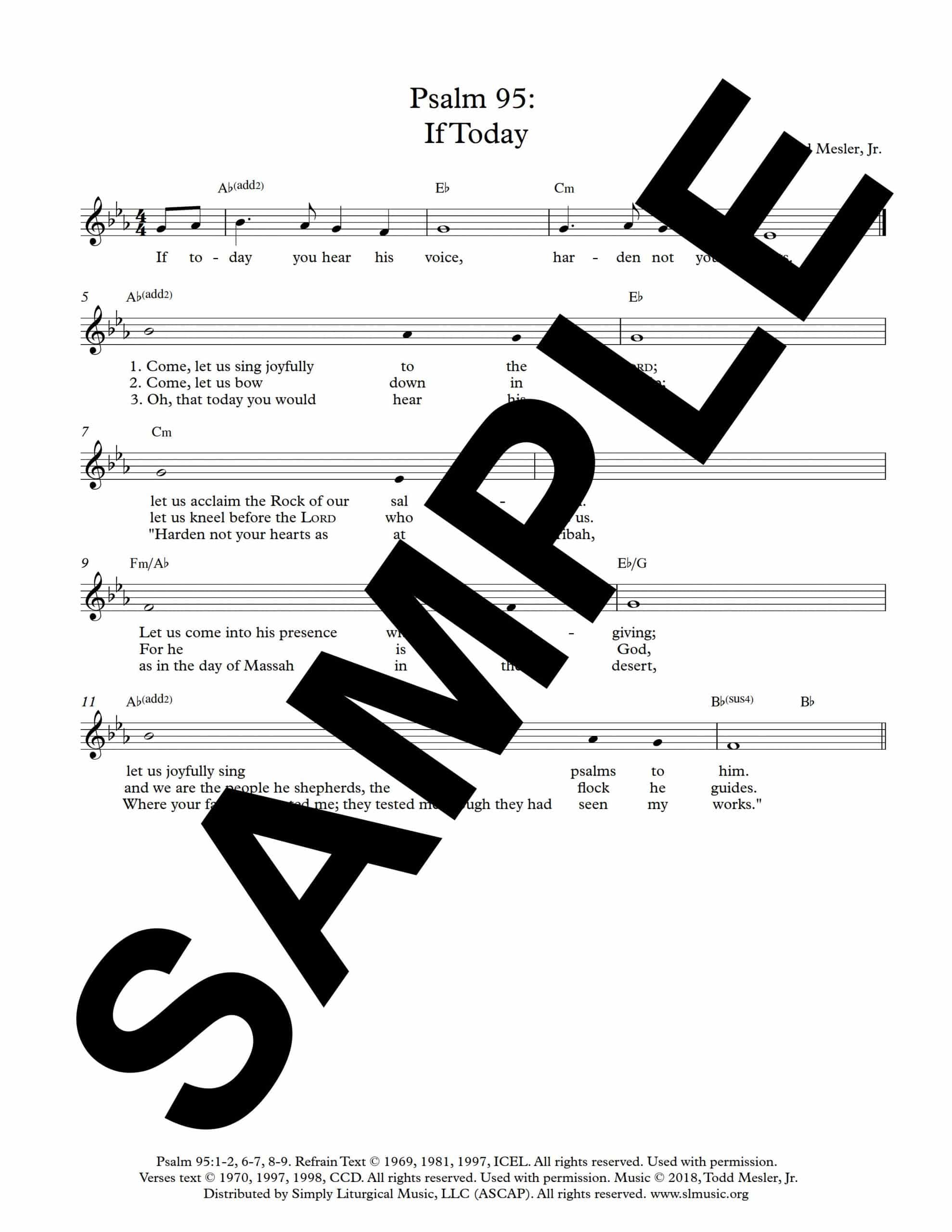 Psalm 95 If Today Mesler Sample Lead Sheet scaled