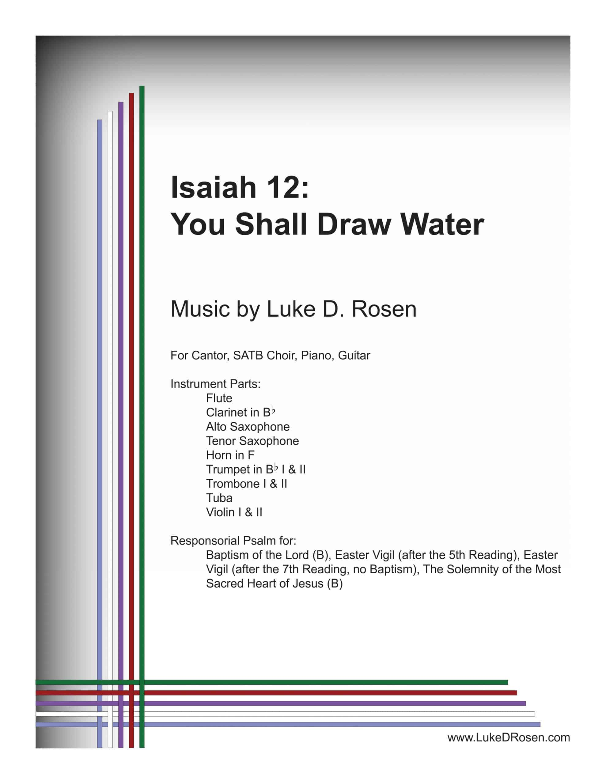 Isaiah 12 You Shall Draw Water ROSEN scaled