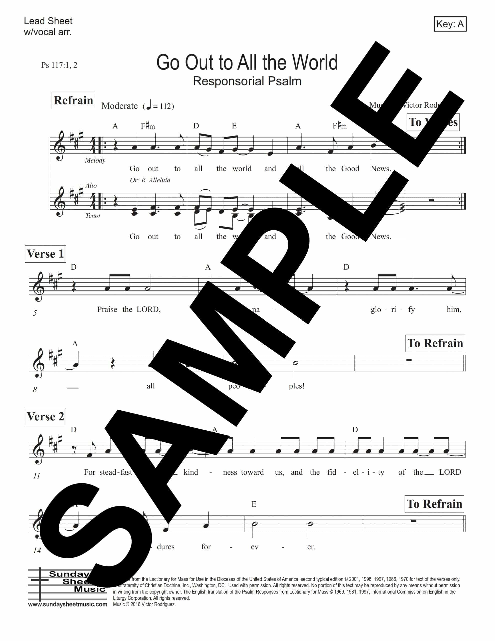 Psalm 117 Go Out to All the World Rodriguez Sample Lead Sheet scaled