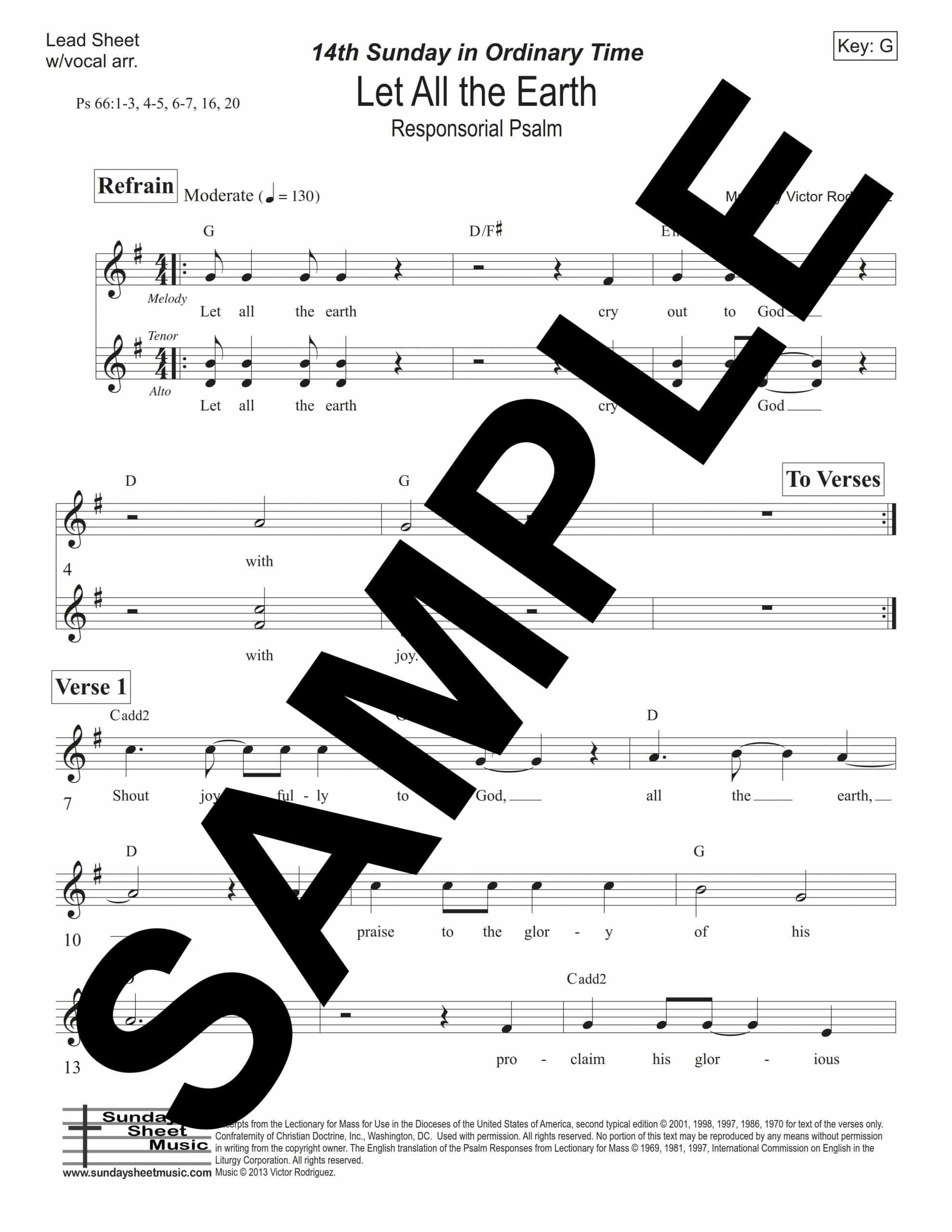 Psalm 66 Let All The Earth Rodriguez Sample Lead Sheet scaled