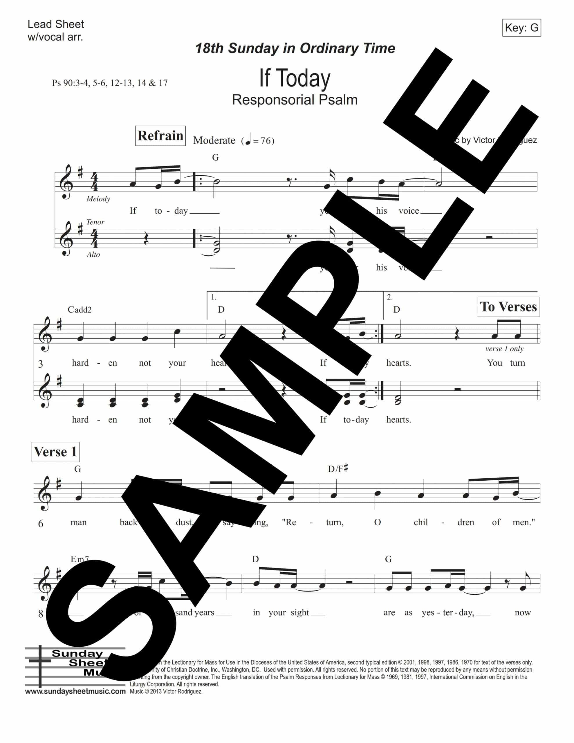 Psalm 90 IfToday Rodriguez Sample Lead Sheet scaled