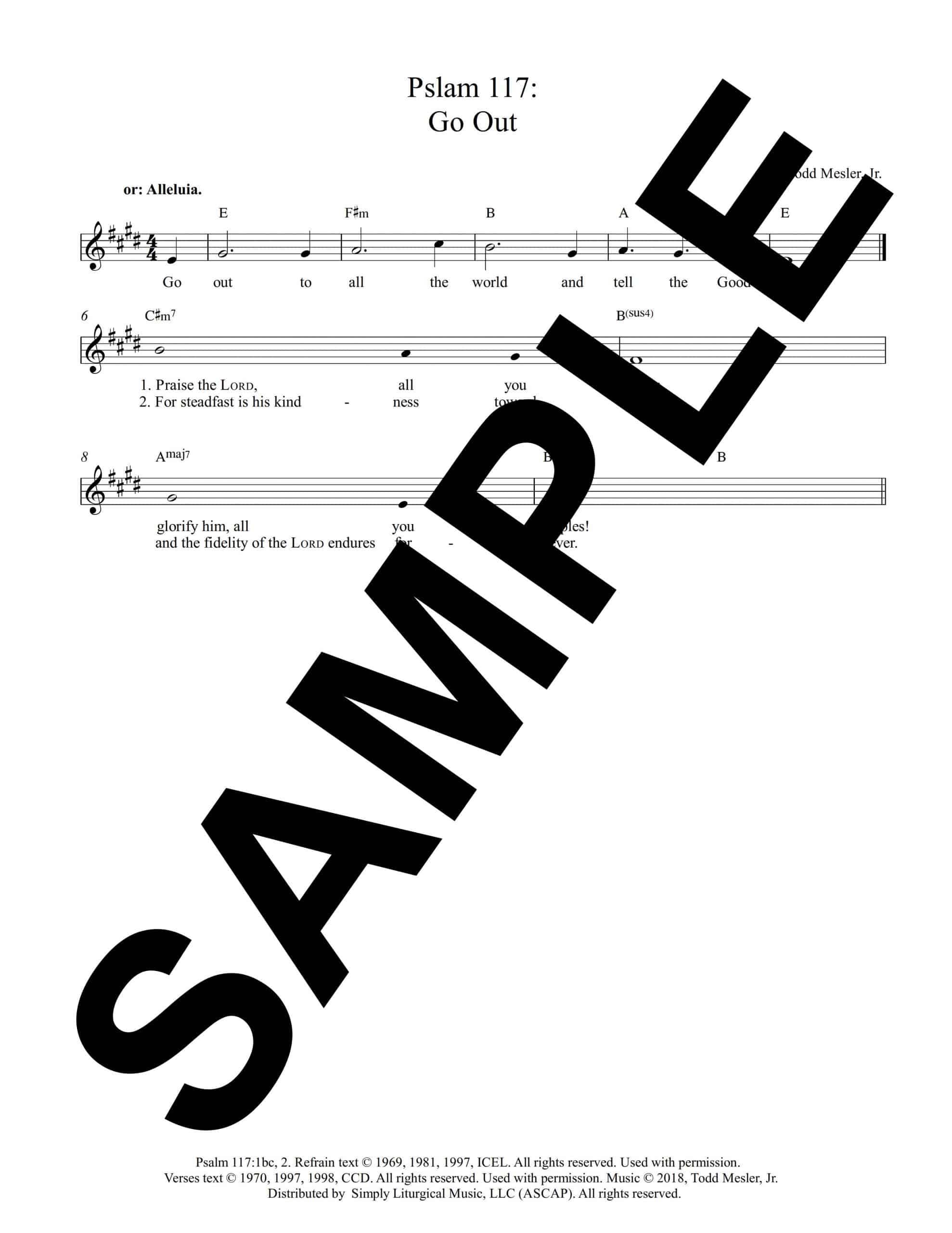 Pslam 117 Go Out Mesler Sample Lead Sheet scaled