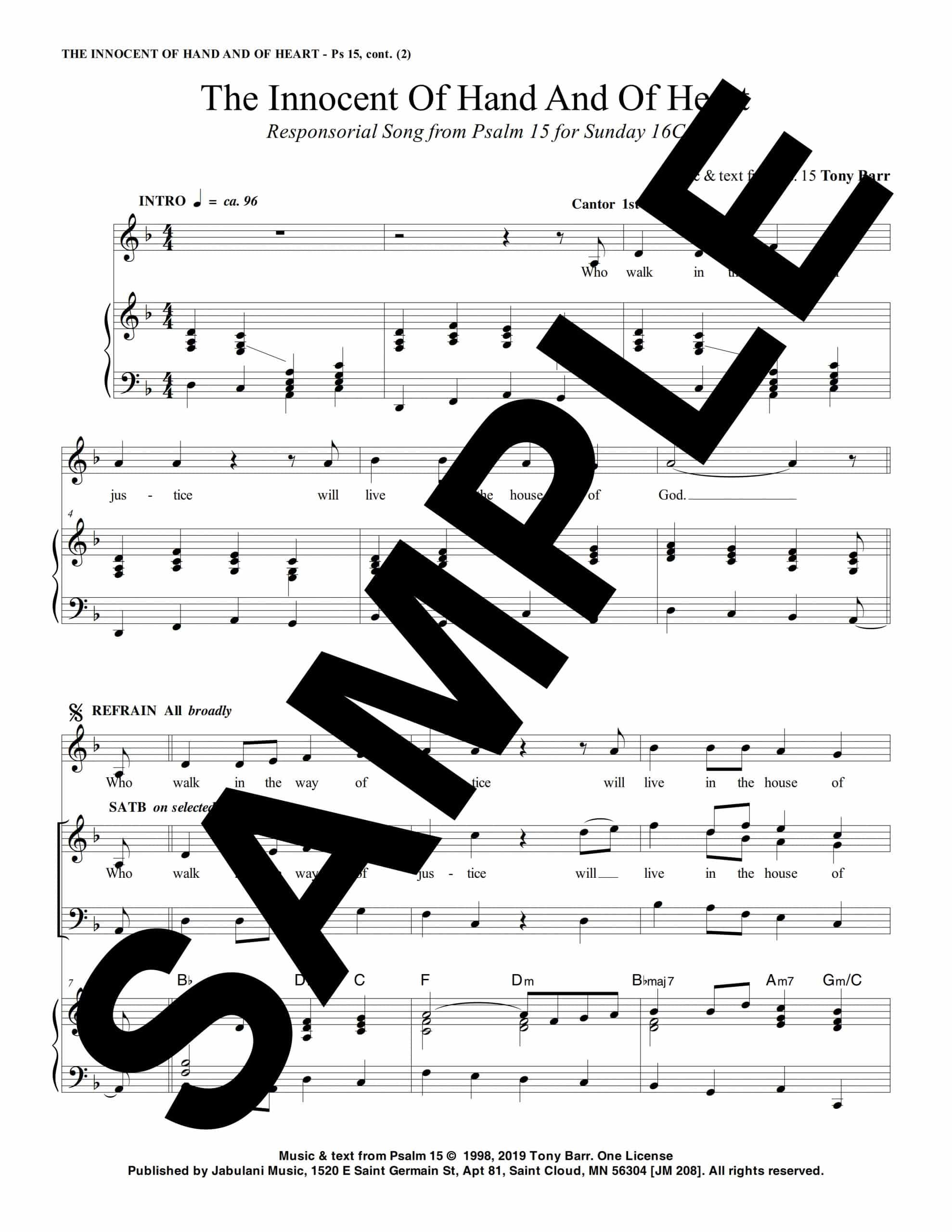 16C Ps 15 The Innocent Of Hand And Of Heart Sample Musicians Parts 1 scaled
