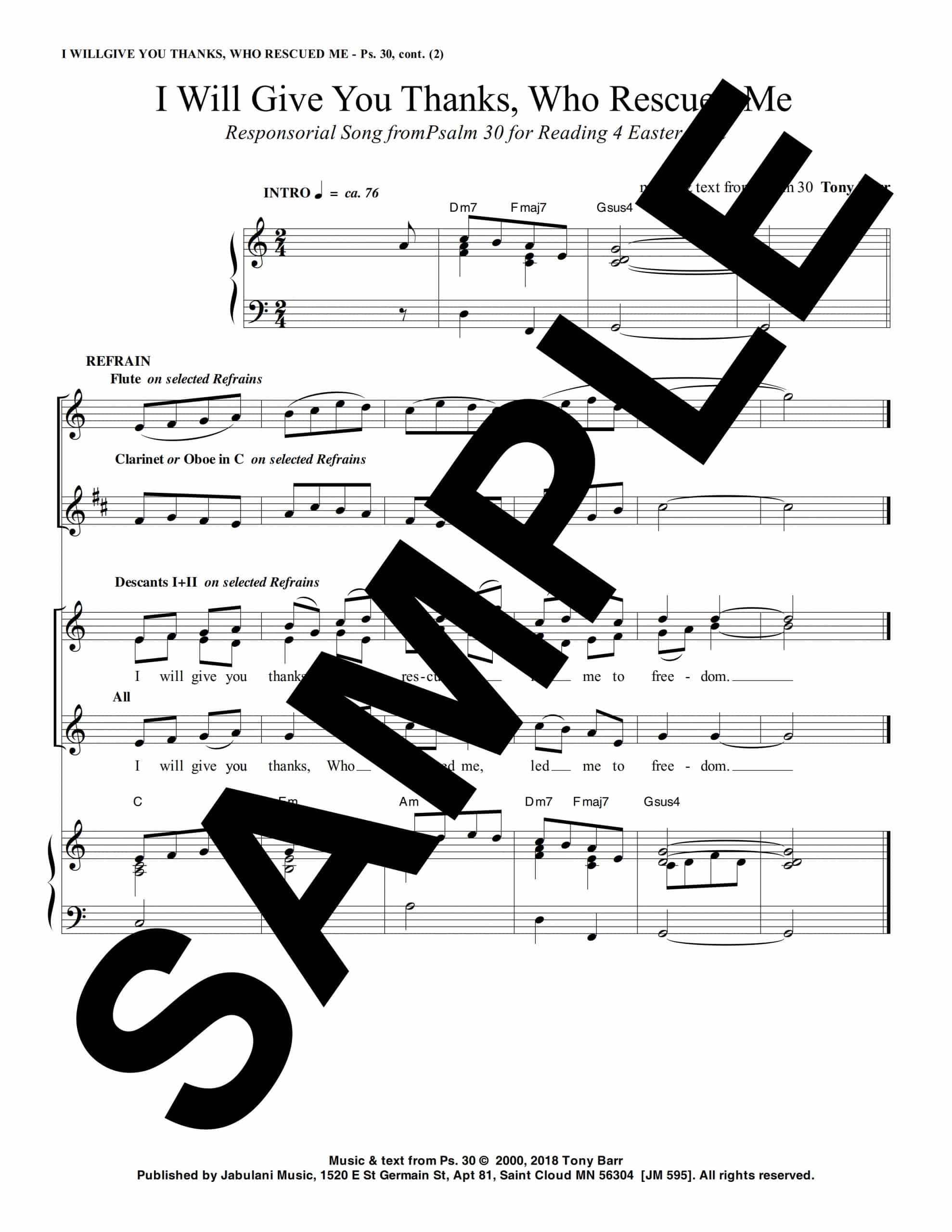 EV 4 Ps 30 I Will Give You Thanks Who Have Rescued Me Sample Musicians Parts 1 scaled
