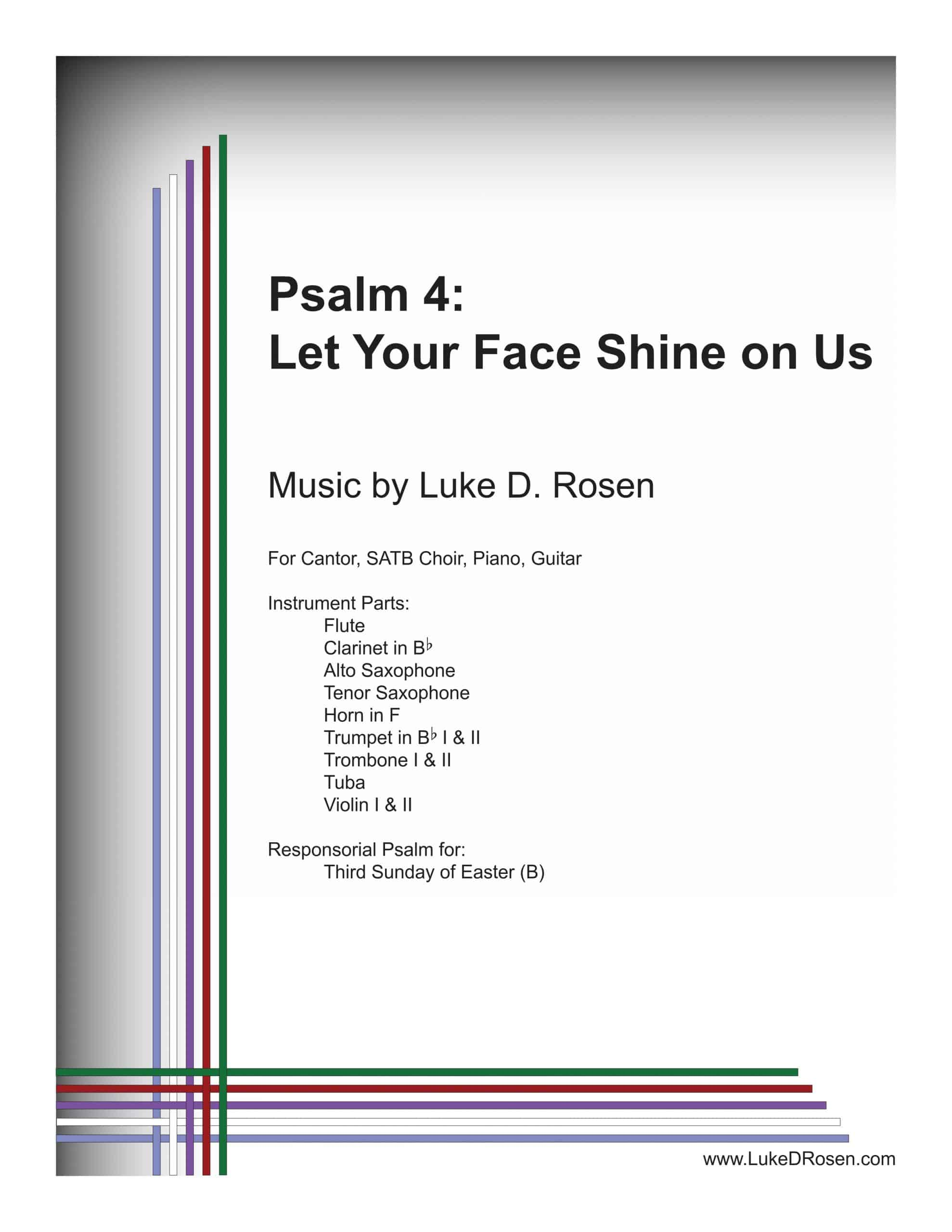 Psalm 4 Let Your Face Shine on Us ROSEN scaled