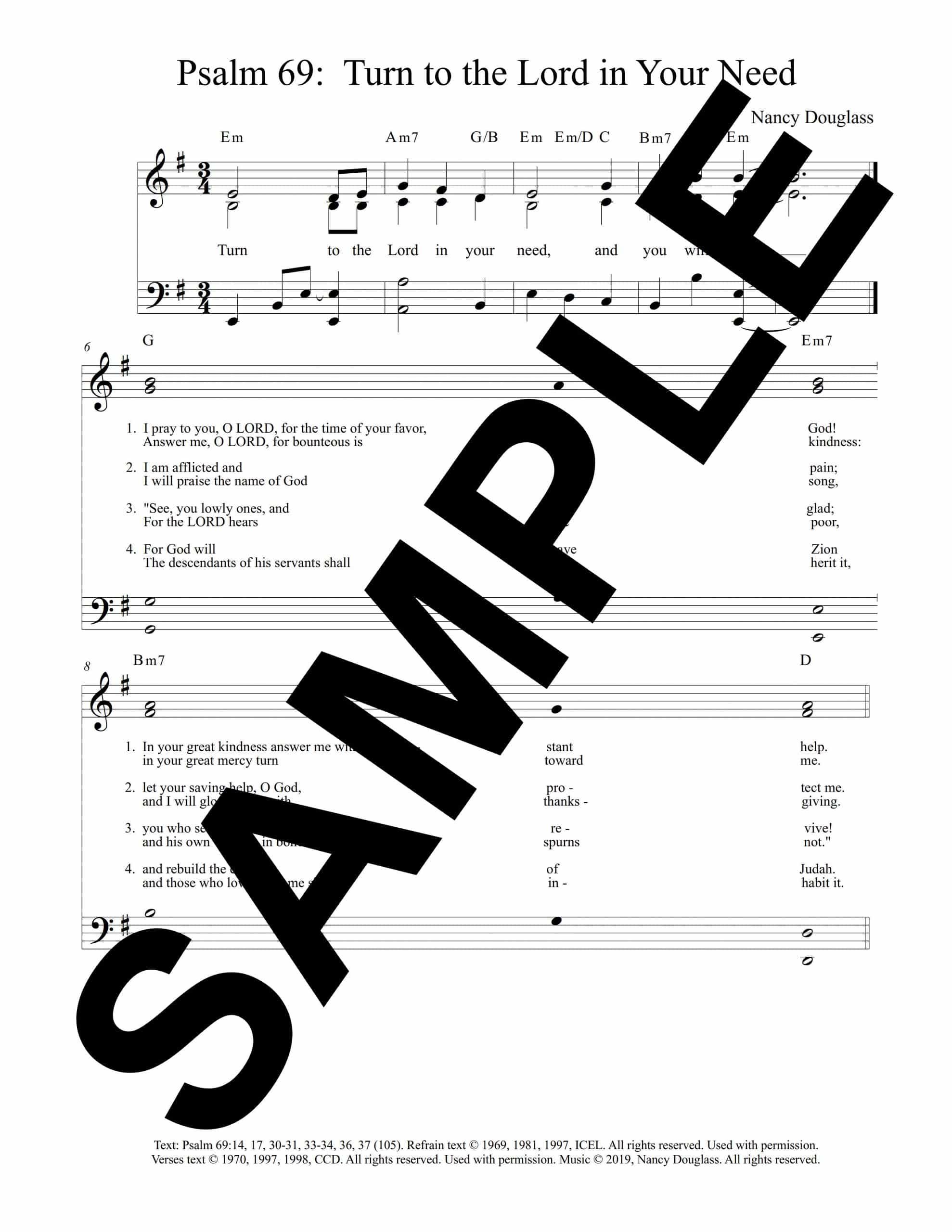 Psalm 69 Turn to the Lord in Your Need Douglass SampleOctavo scaled