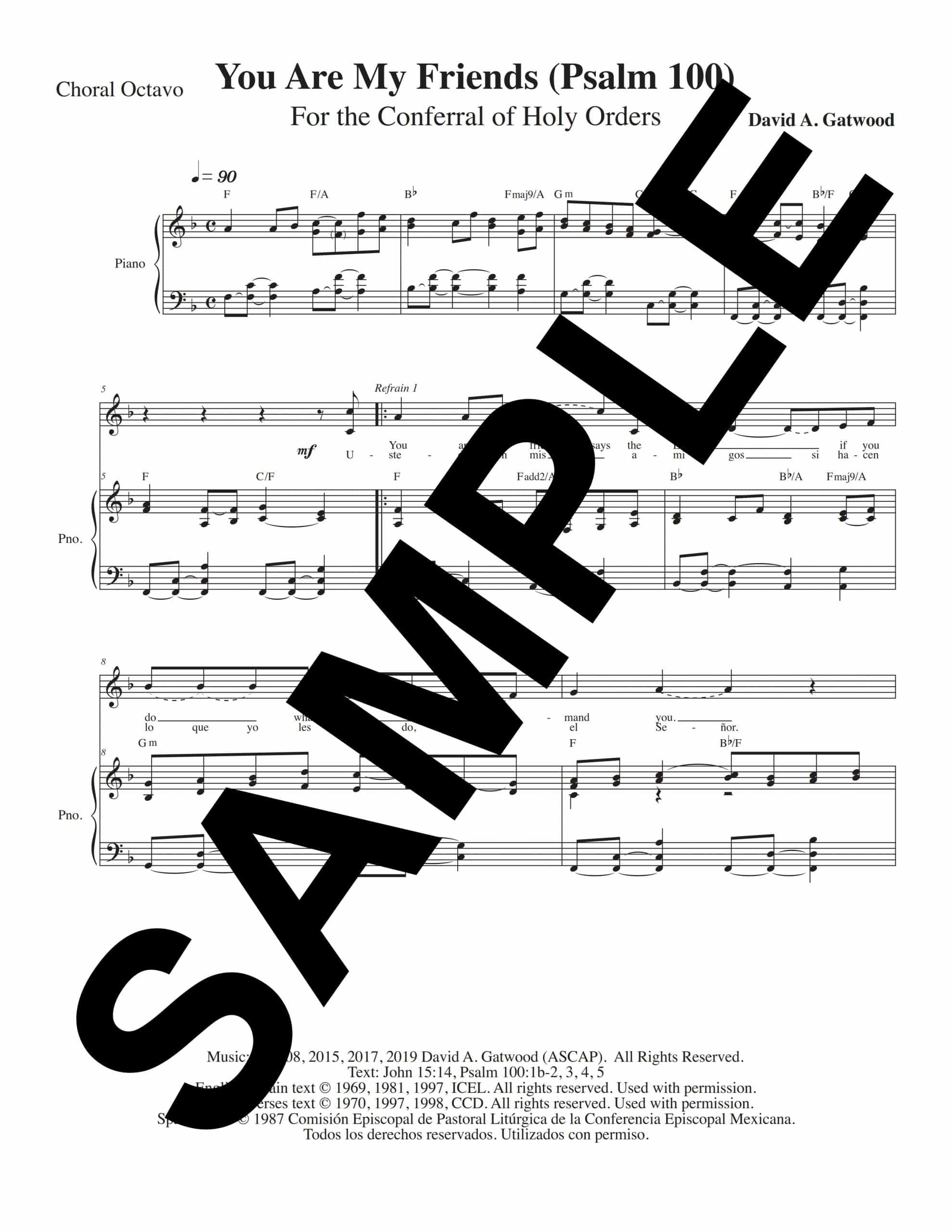 You Are My Friends Psalm 100 Sample Choral Octavo scaled