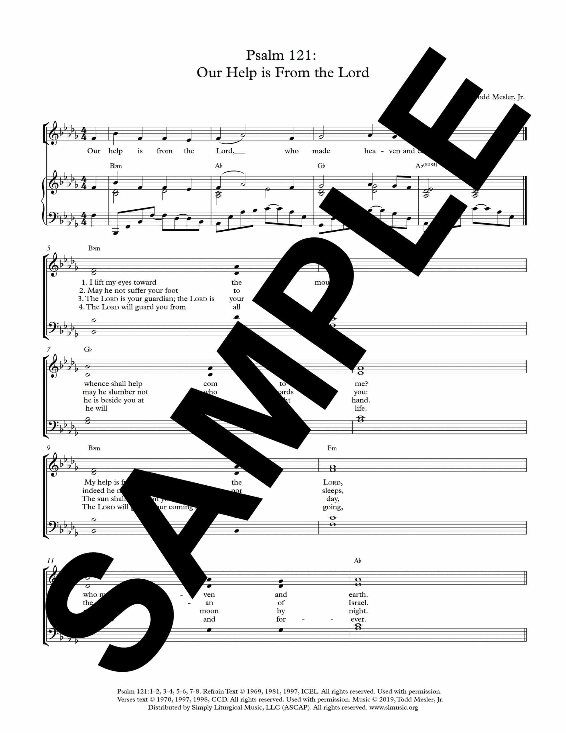 Psalm 121 Our Help is From the Lord Mesler Sample Octavo scaled