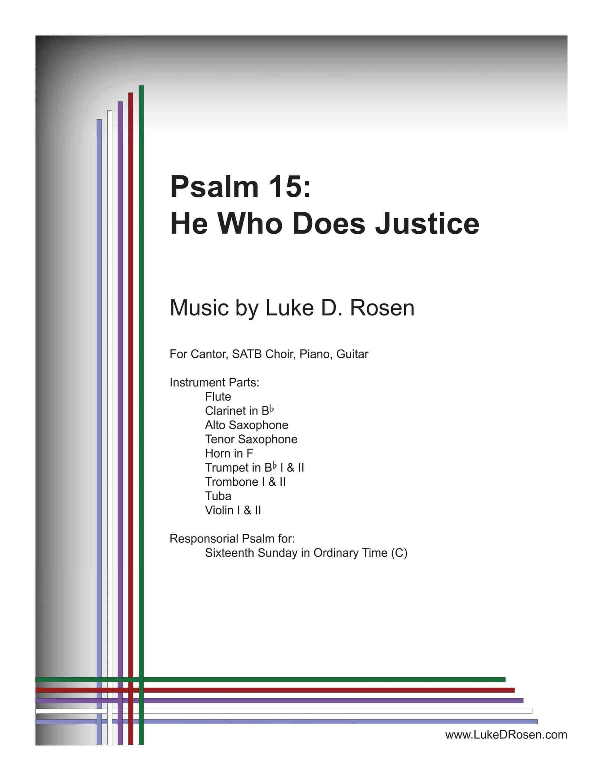 Psalm 15 He Who Does Justice ROSEN scaled
