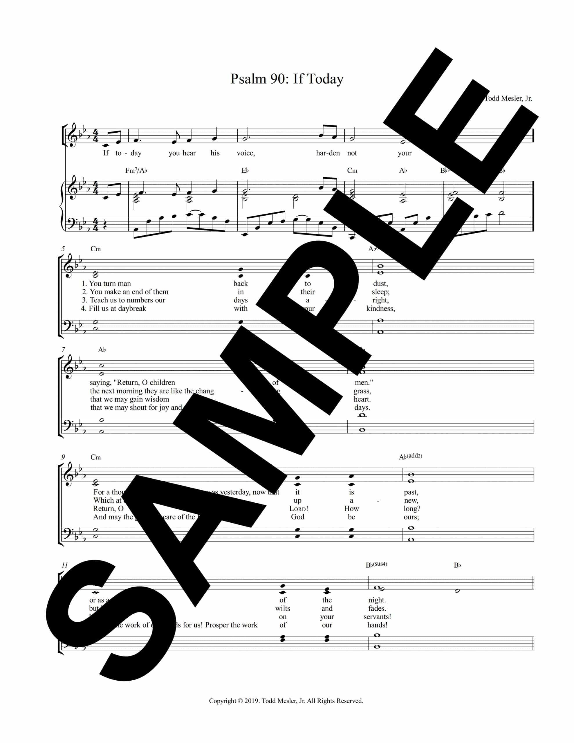 Psalm 90 If Today Mesler Sample Octavo scaled