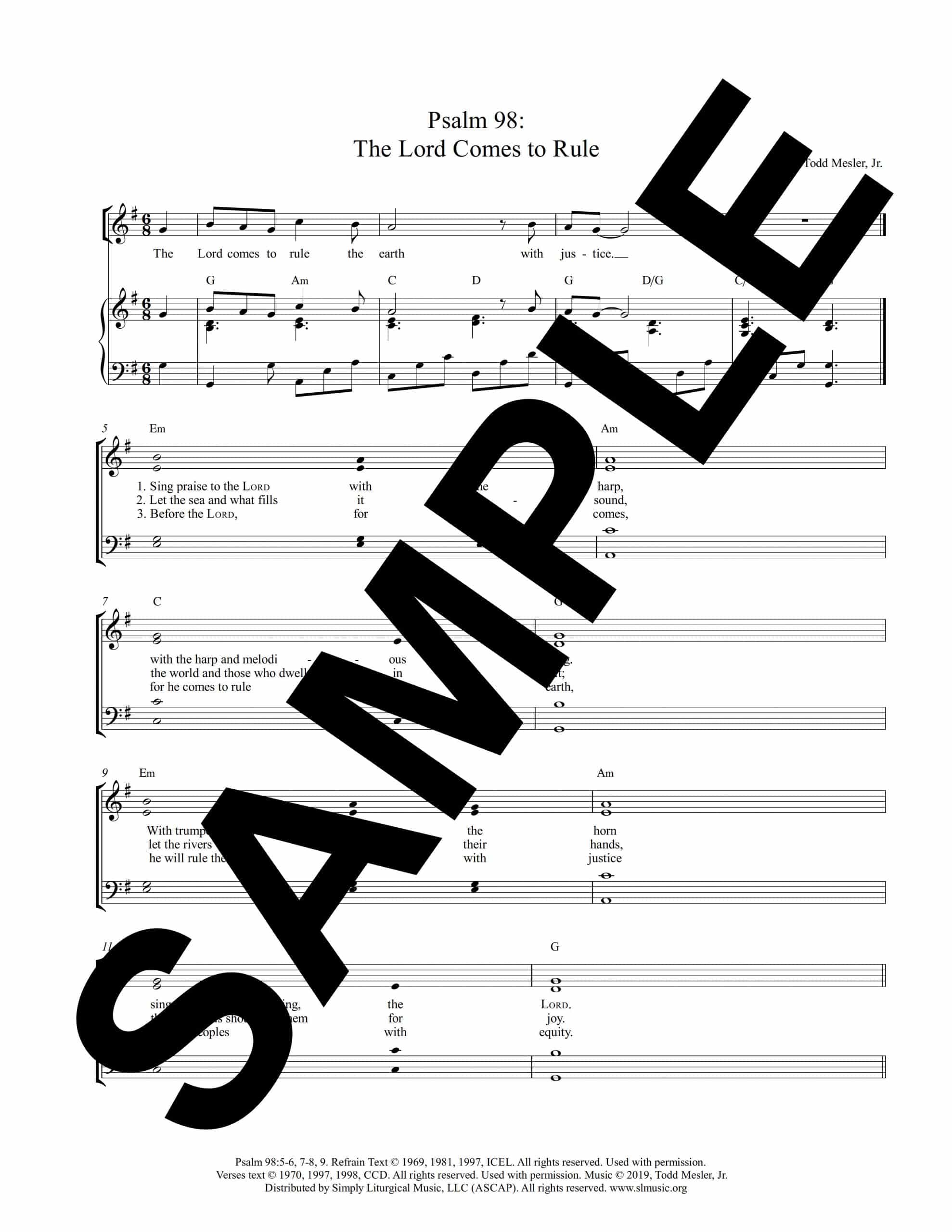 Psalm 98 The Lord Comes to Rule Mesler Sample Octavo scaled