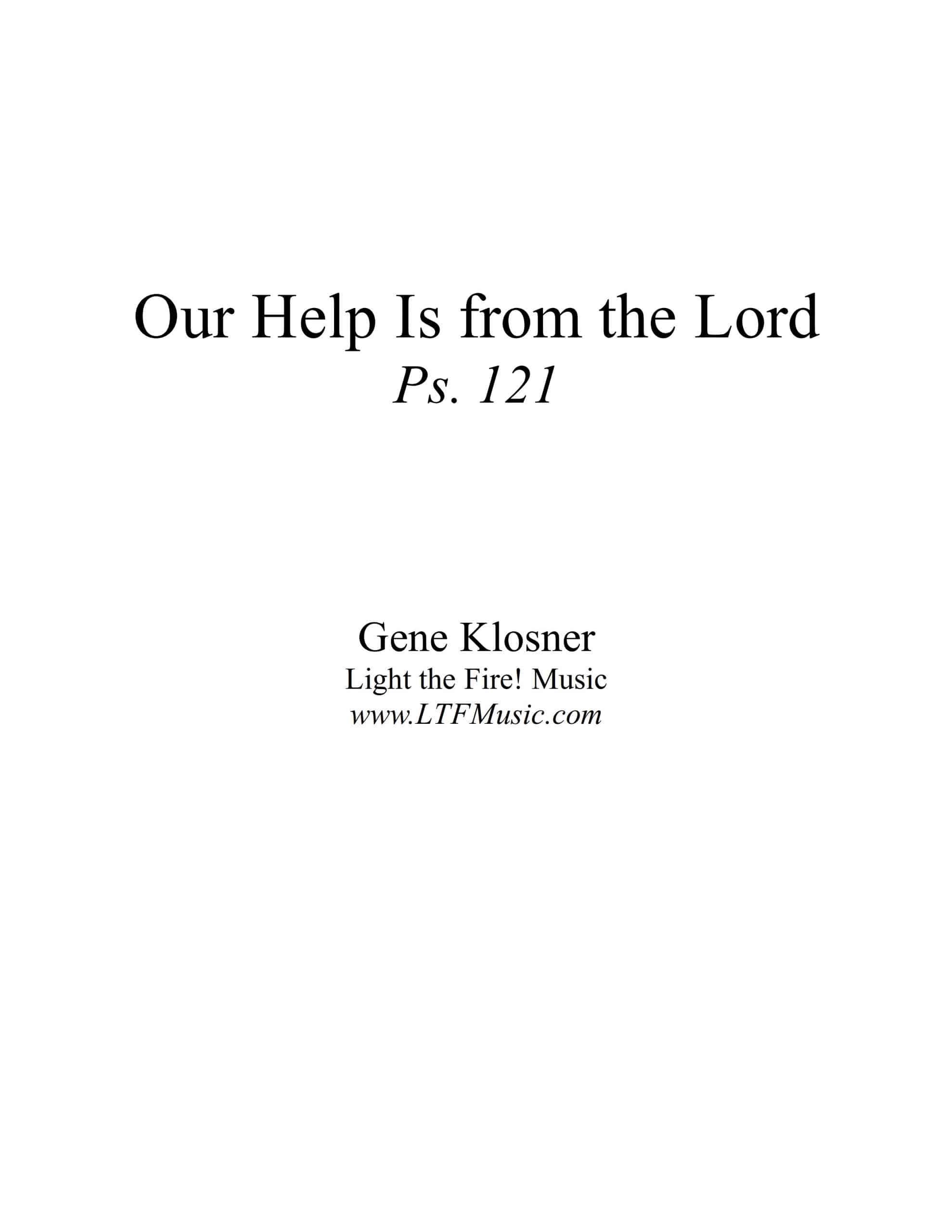 Our Help Is from the Lord LdShtSATB CompletePDF Sample scaled