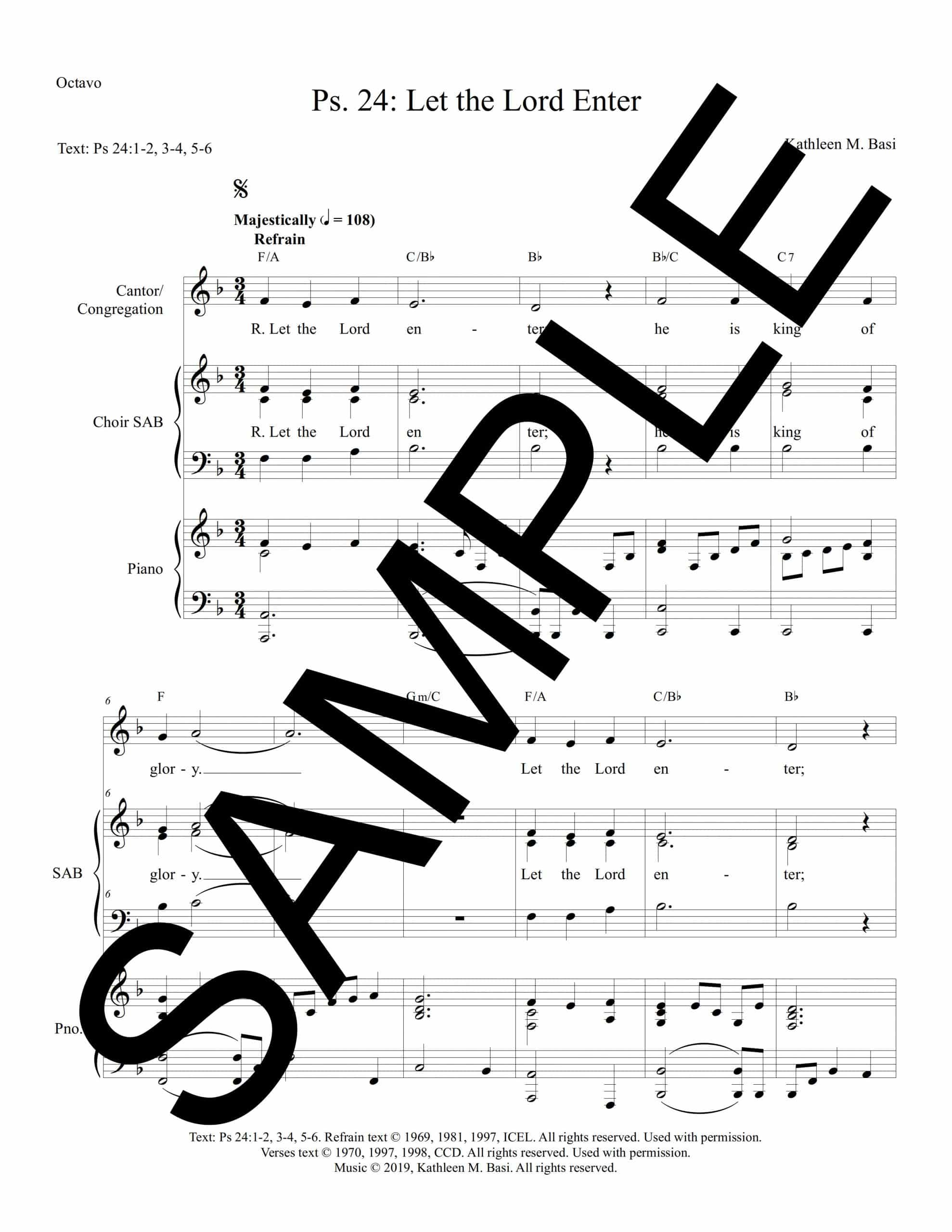 Psalm 24 Let the Lord Enter Basi Sample Octavo scaled