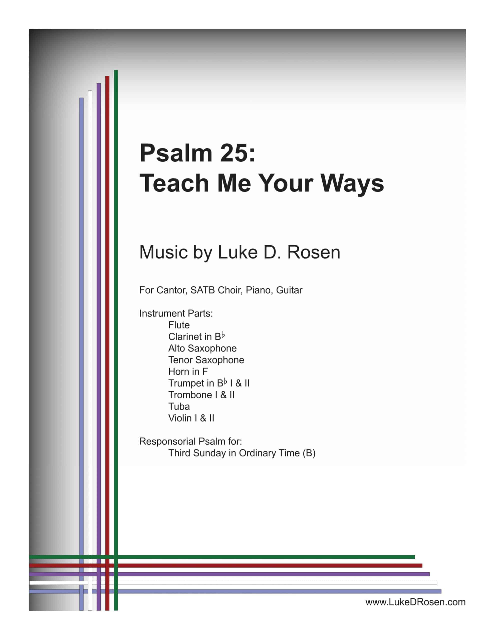 Psalm 25 Teach Me Your Ways ROSEN Sample Complete PDF scaled