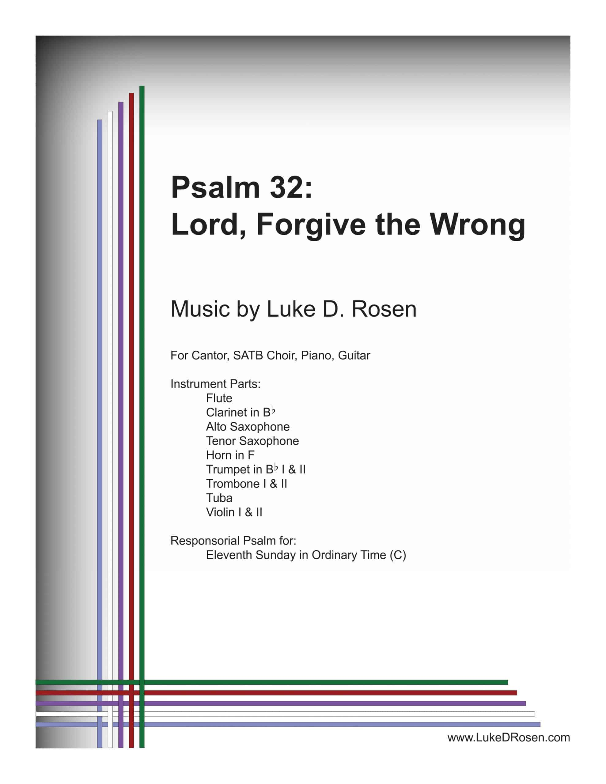 Psalm 32 Lord Forgive the Wrong ROSEN Sample Complete PDF scaled