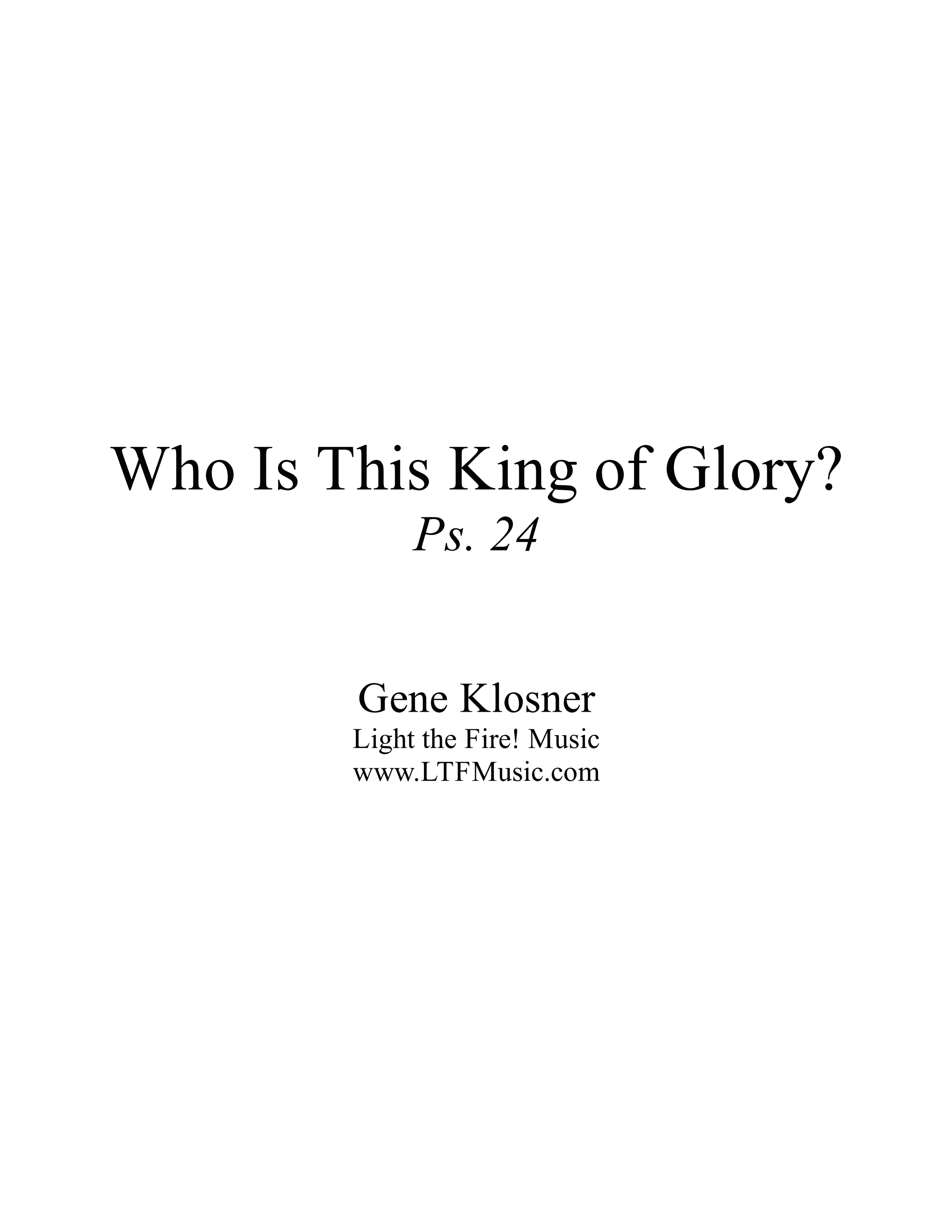 Who Is This King of Glory Klosner Sample CompletePDF 1 png