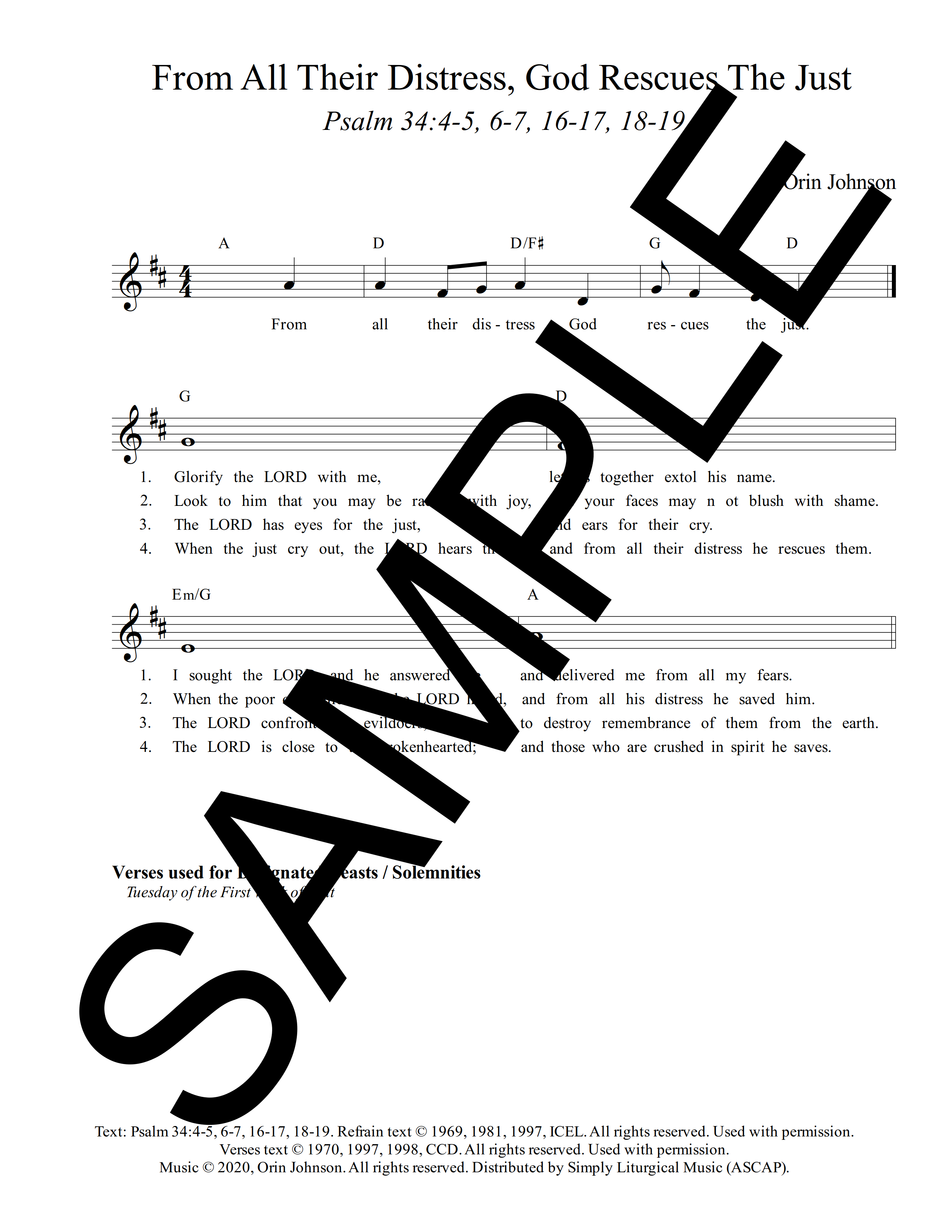 Psalm 34 From All Their Distress God Rescues The Just Johnson Sample Lead Sheet 1 png