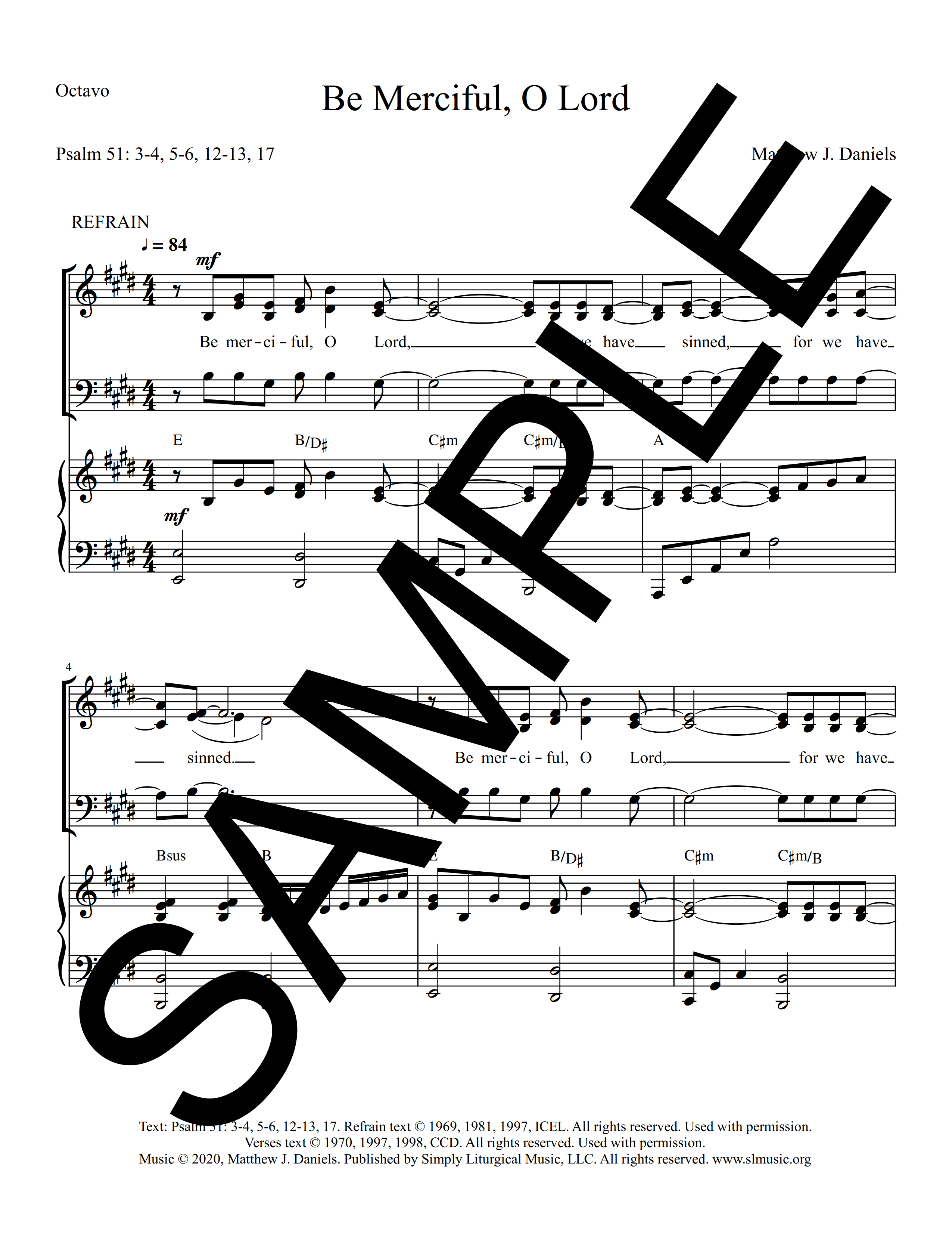 Psalm 51 Be Merciful O Lord Daniels Sample Octavo 1 png