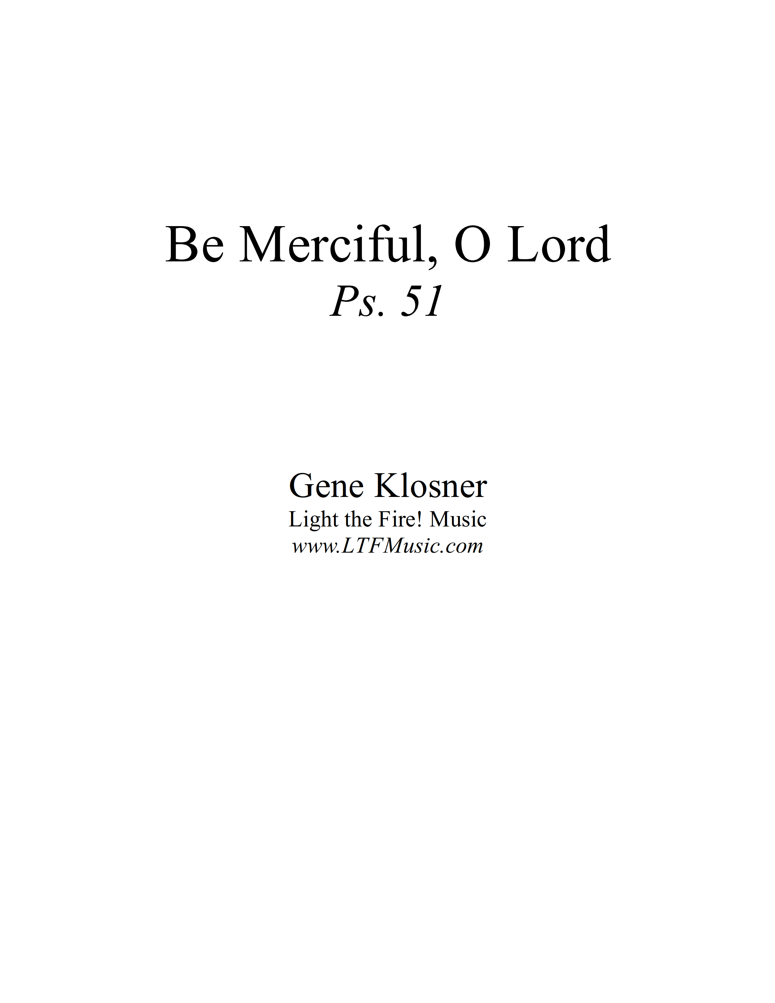 Psalm 51 Be Merciful O Lord Klosner Complete PDF 1 png
