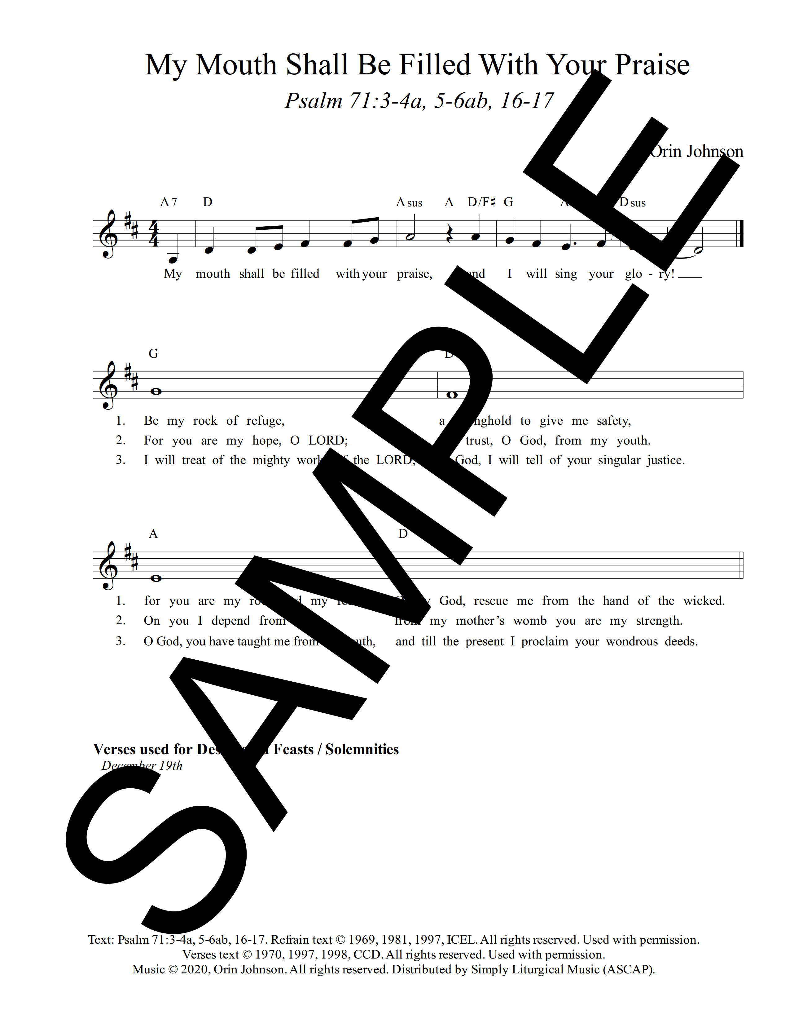 Psalm 71 My Mouth Shall Be Filled With Your Praise Johnson Sample Lead Sheet 1 png