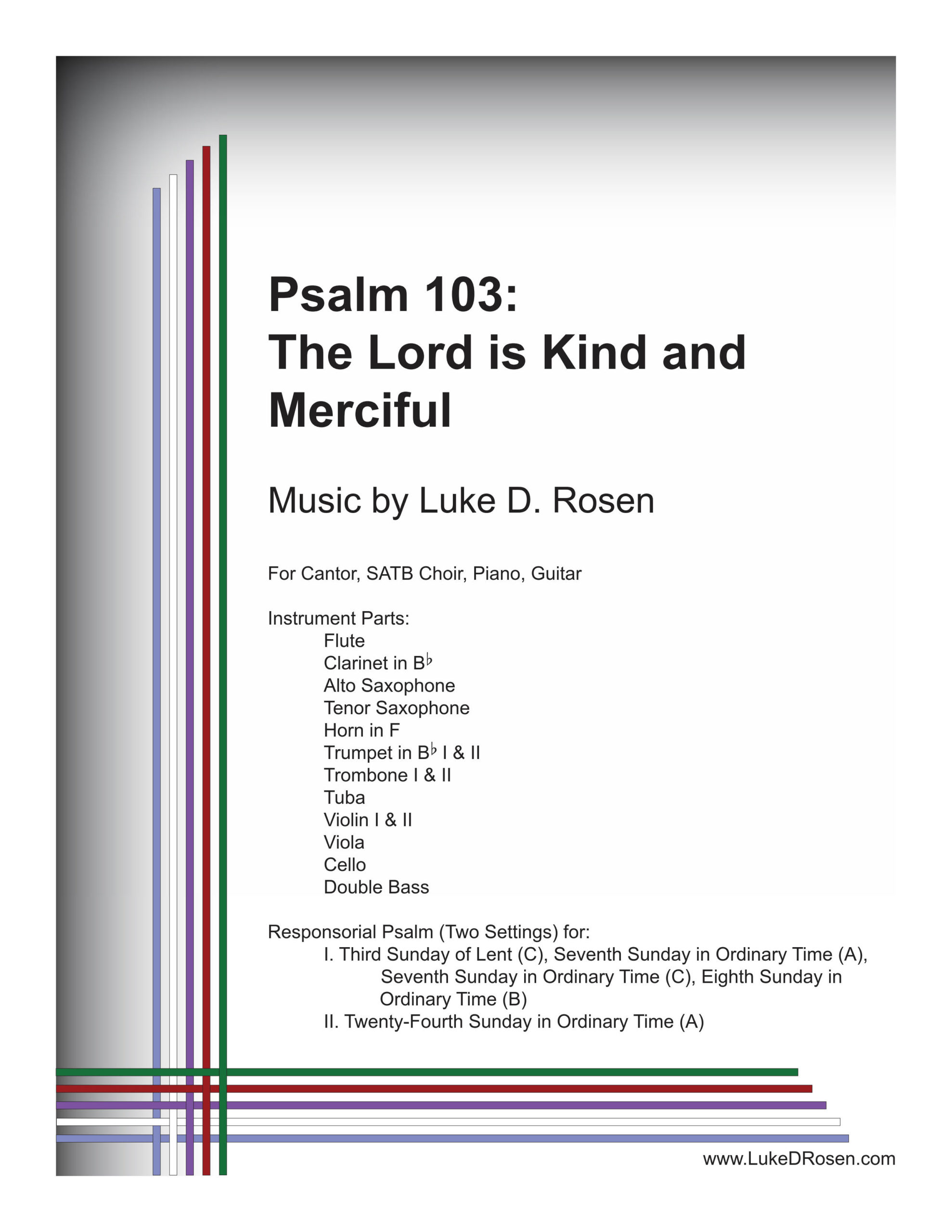 Psalm 103 The Lord is Kind and Merciful Rosen Sample Complete PDF 1 png