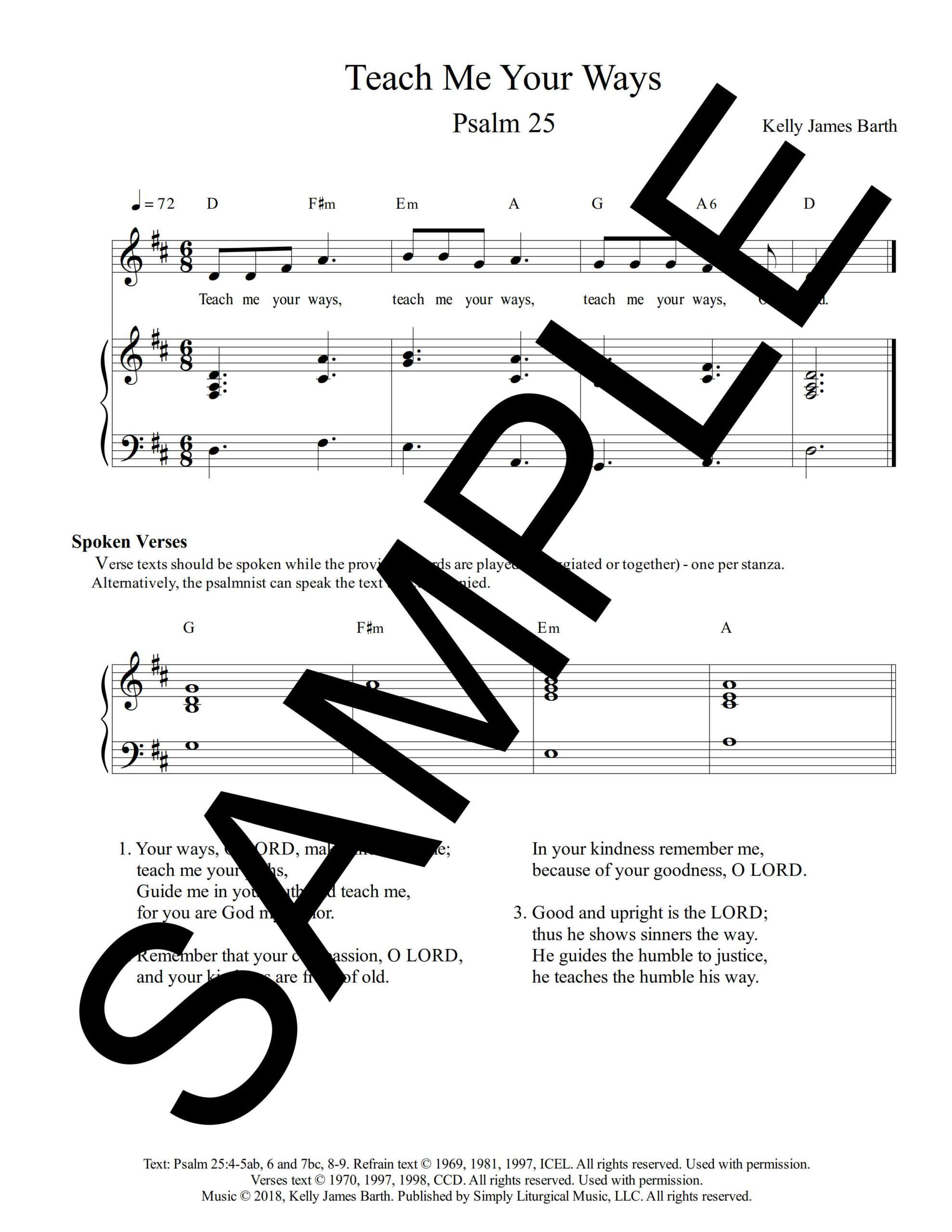 Psalm 25 Teach Me Your Ways Barth Sample Sheet Music 1 png