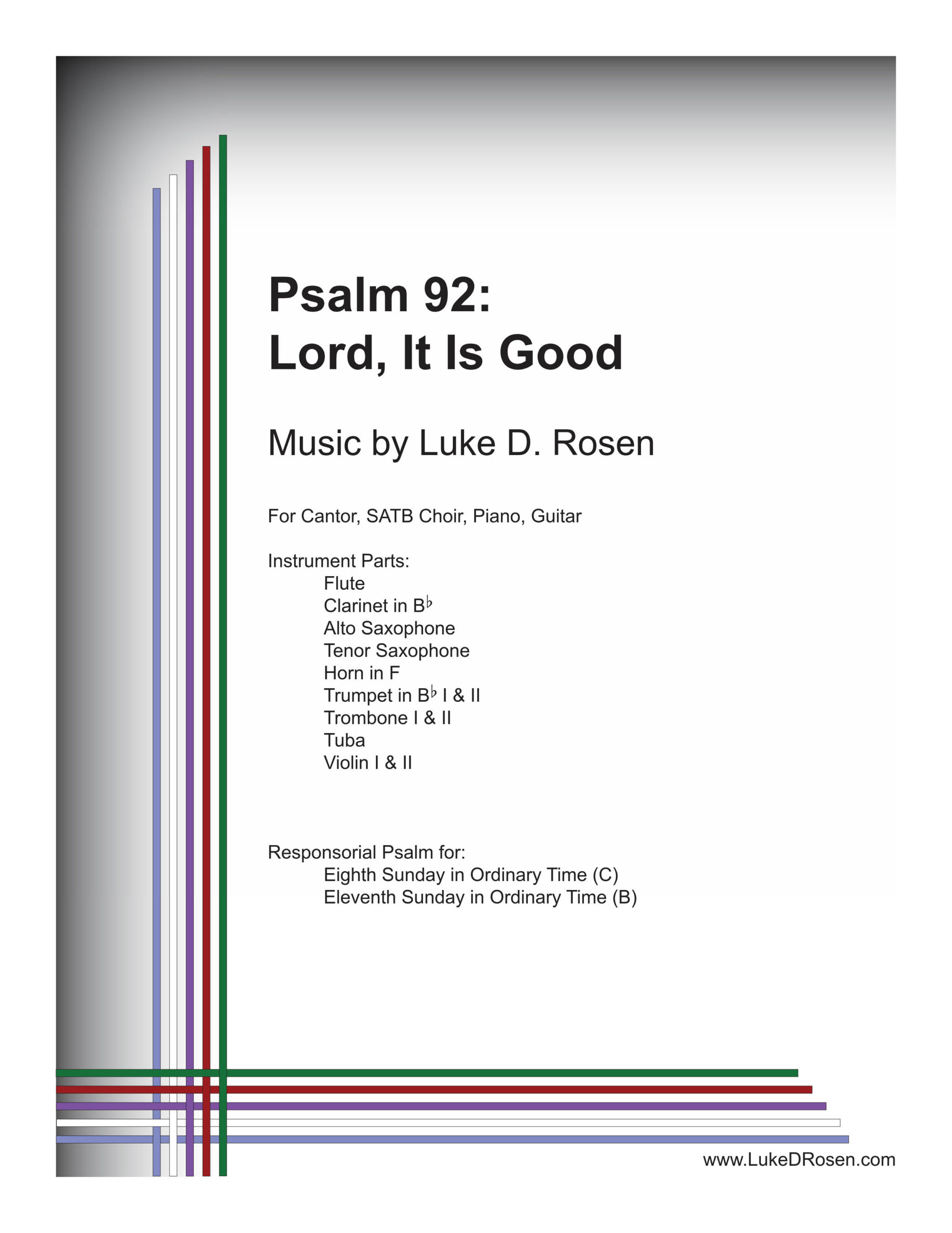 Psalm 92 Lord It Is Good Rosen Sample Complete PDF 1 png