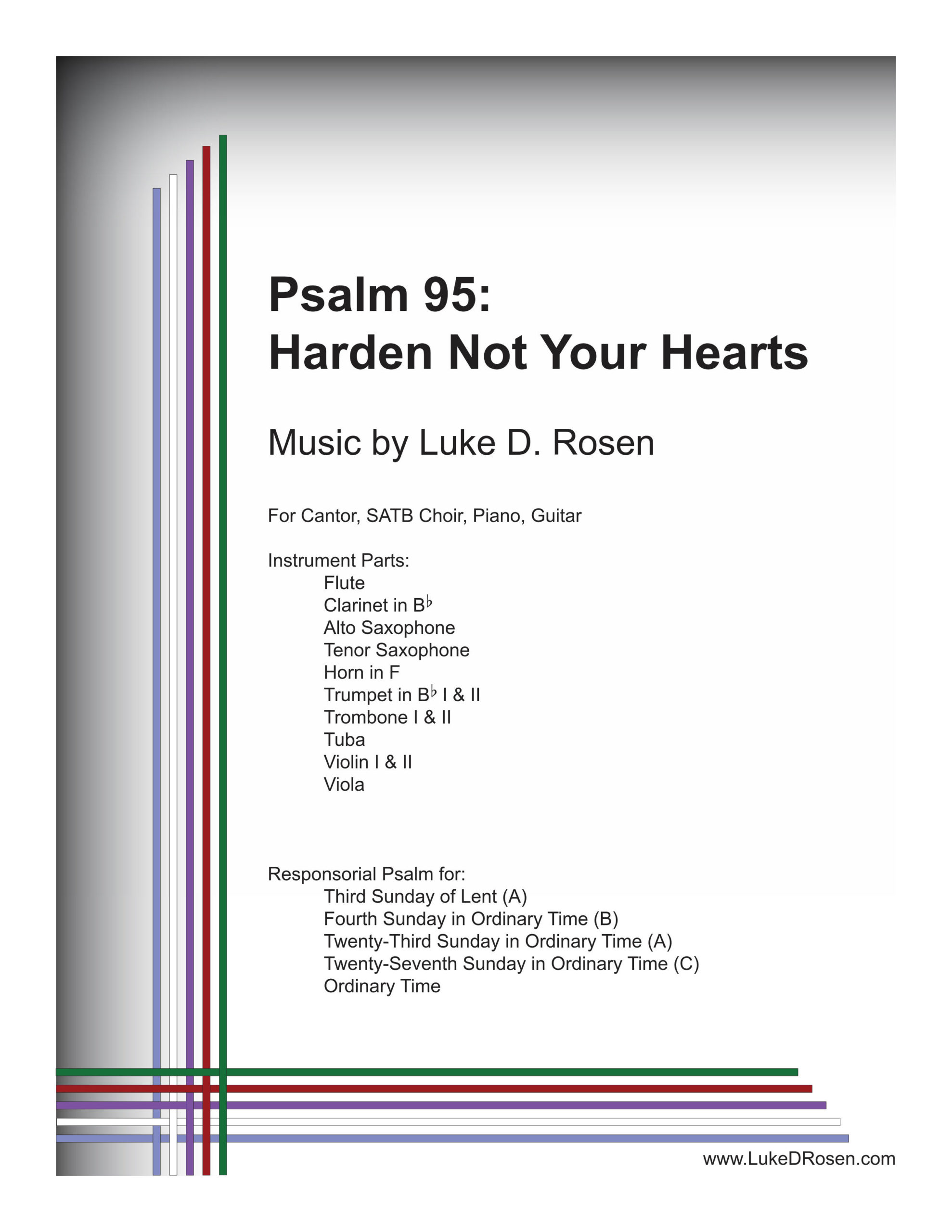 Psalm 95 Harden Not Your Hearts Rosen Sample Complete PDF 1 png