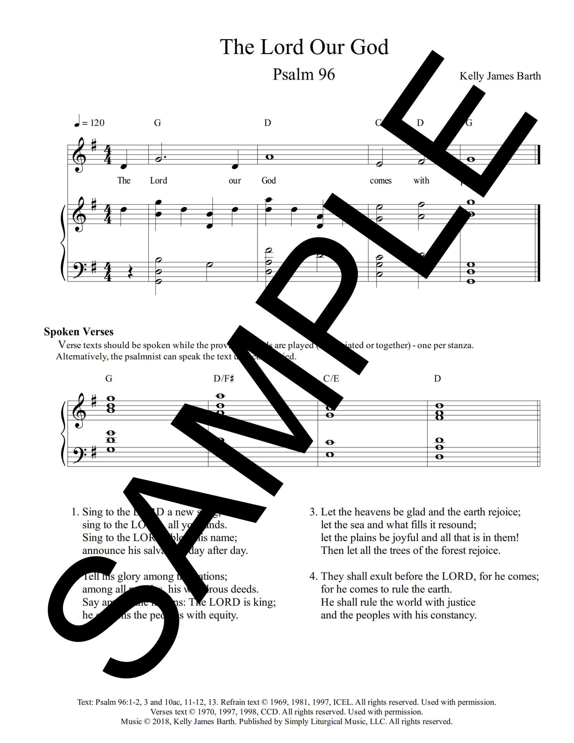 Psalm 96 The Lord Our God Barth Sample Sheet Music 1 png
