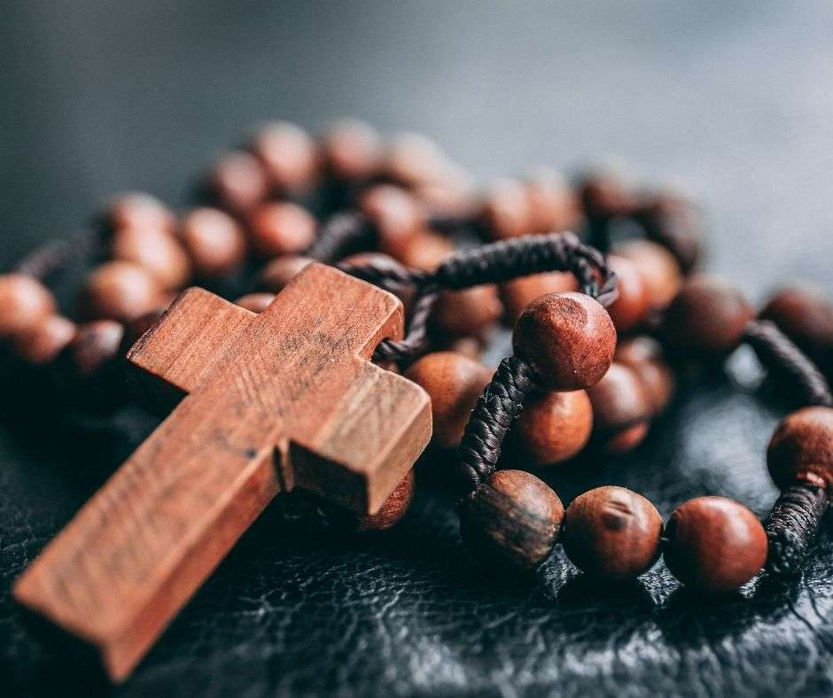 Rosary with wooden cross