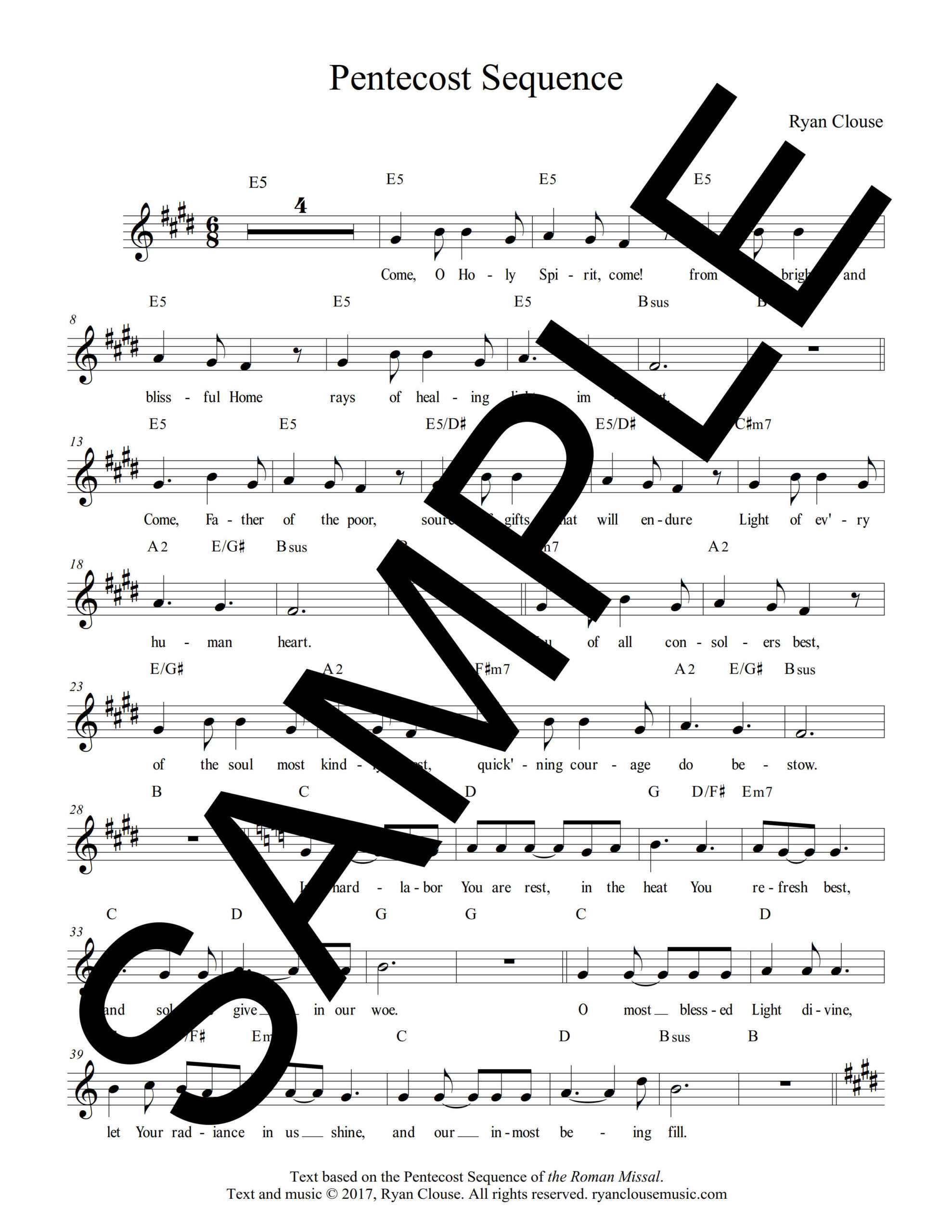 Pentecost Sequence Clouse Sample Lead Sheet 1 png