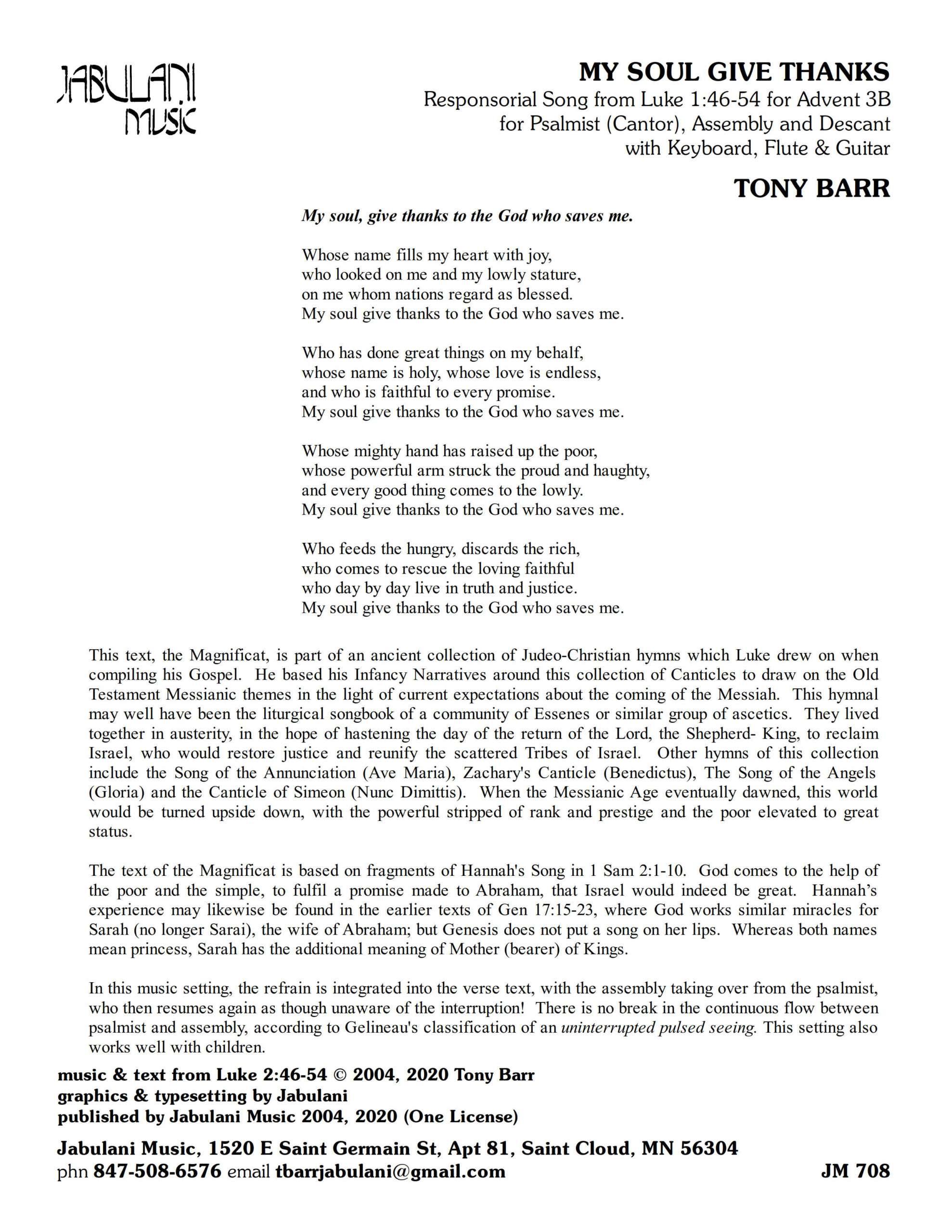 Adv 3B Lk 1 Magnificat My Soul Give Thanks JM 708 Sample Complete PDF 1 png