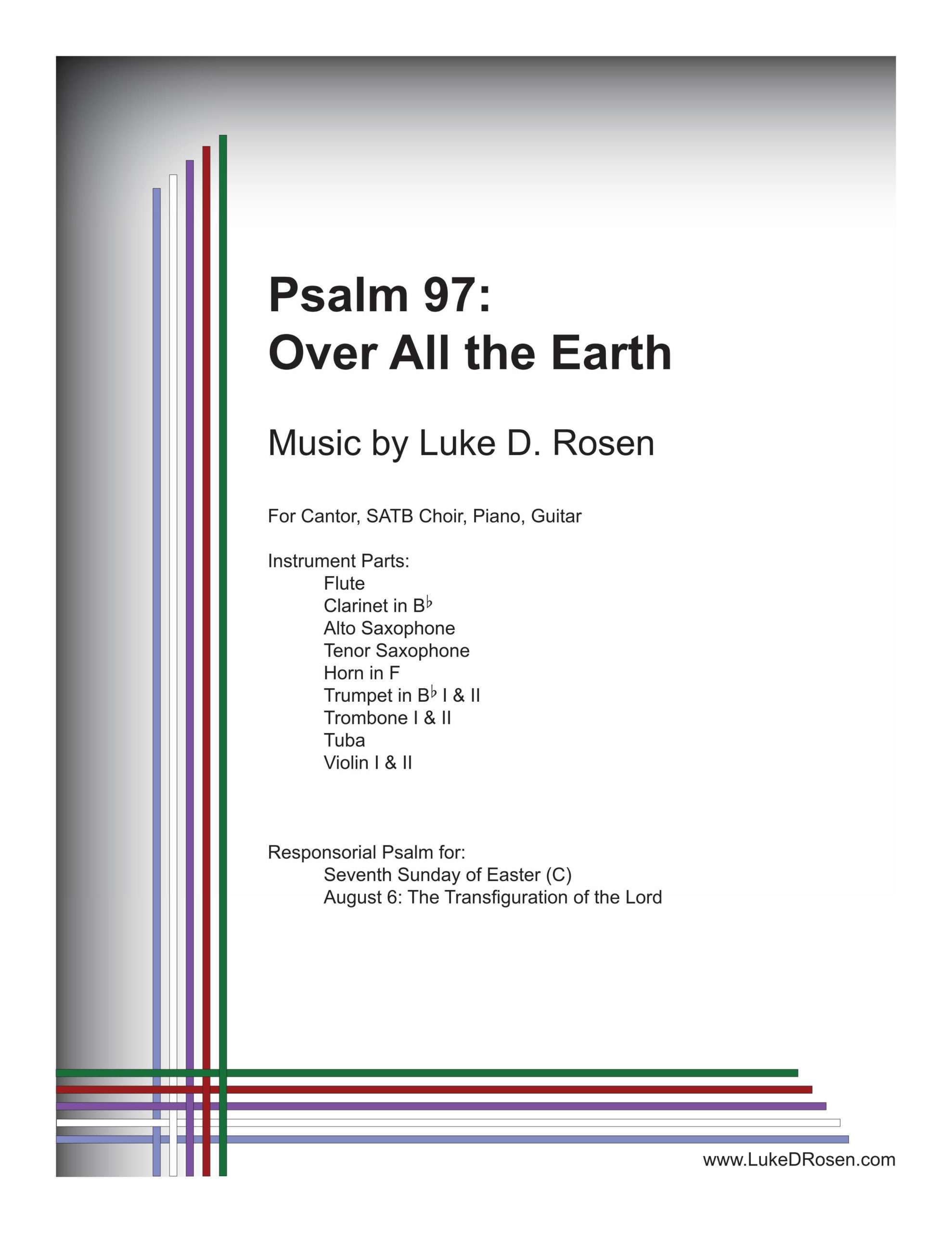 Psalm 97 Over All the Earth Rosen Sample Complete PDF 1 png